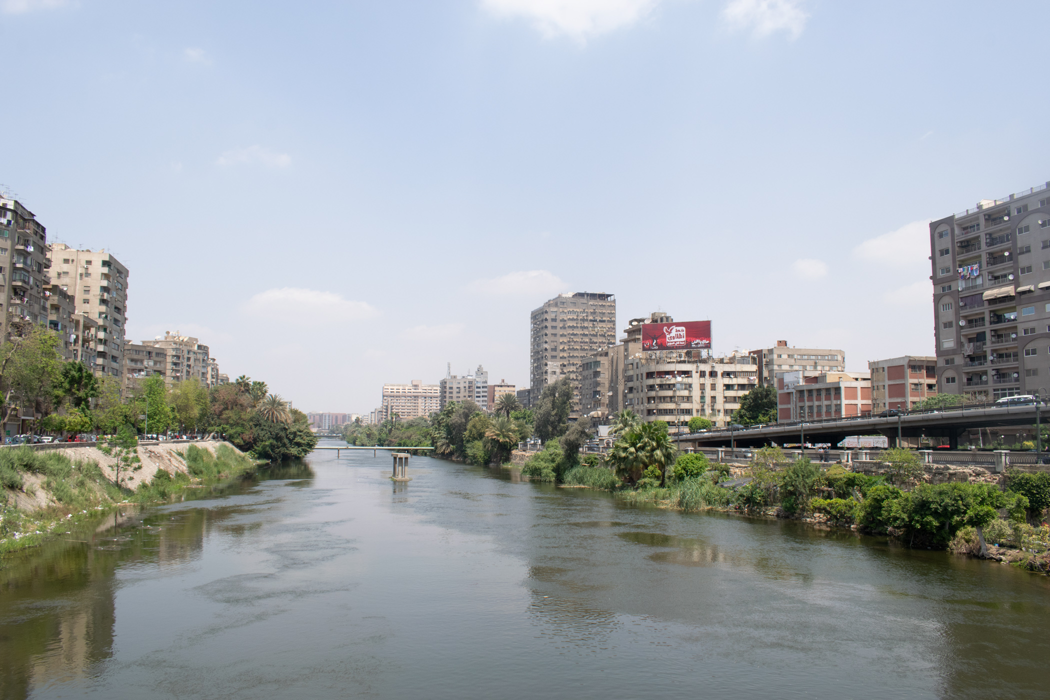 The famous River Nile runs right through Greater Cairo.