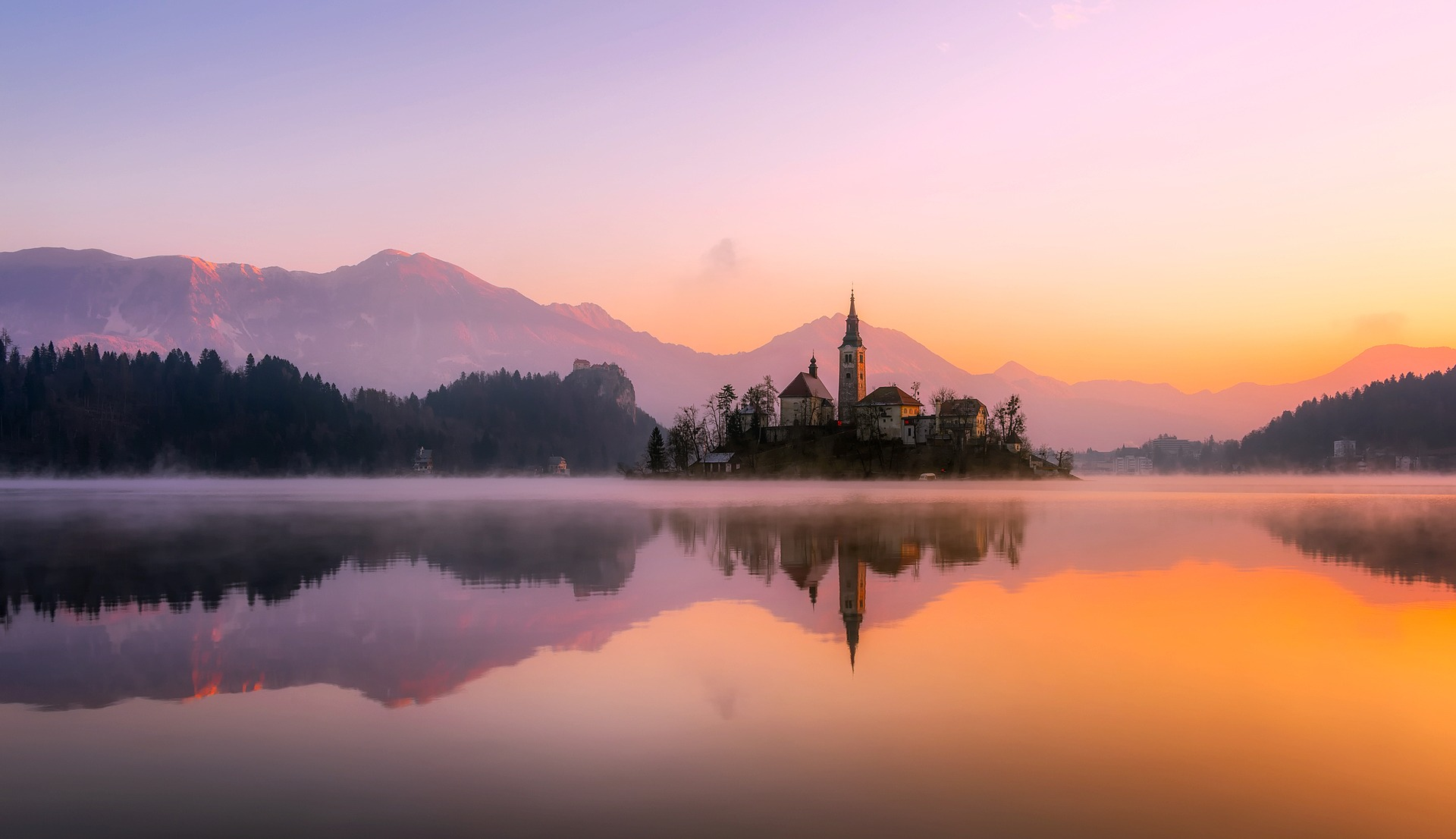 Slovenia is also home to stunning scenery including Lake Bled.