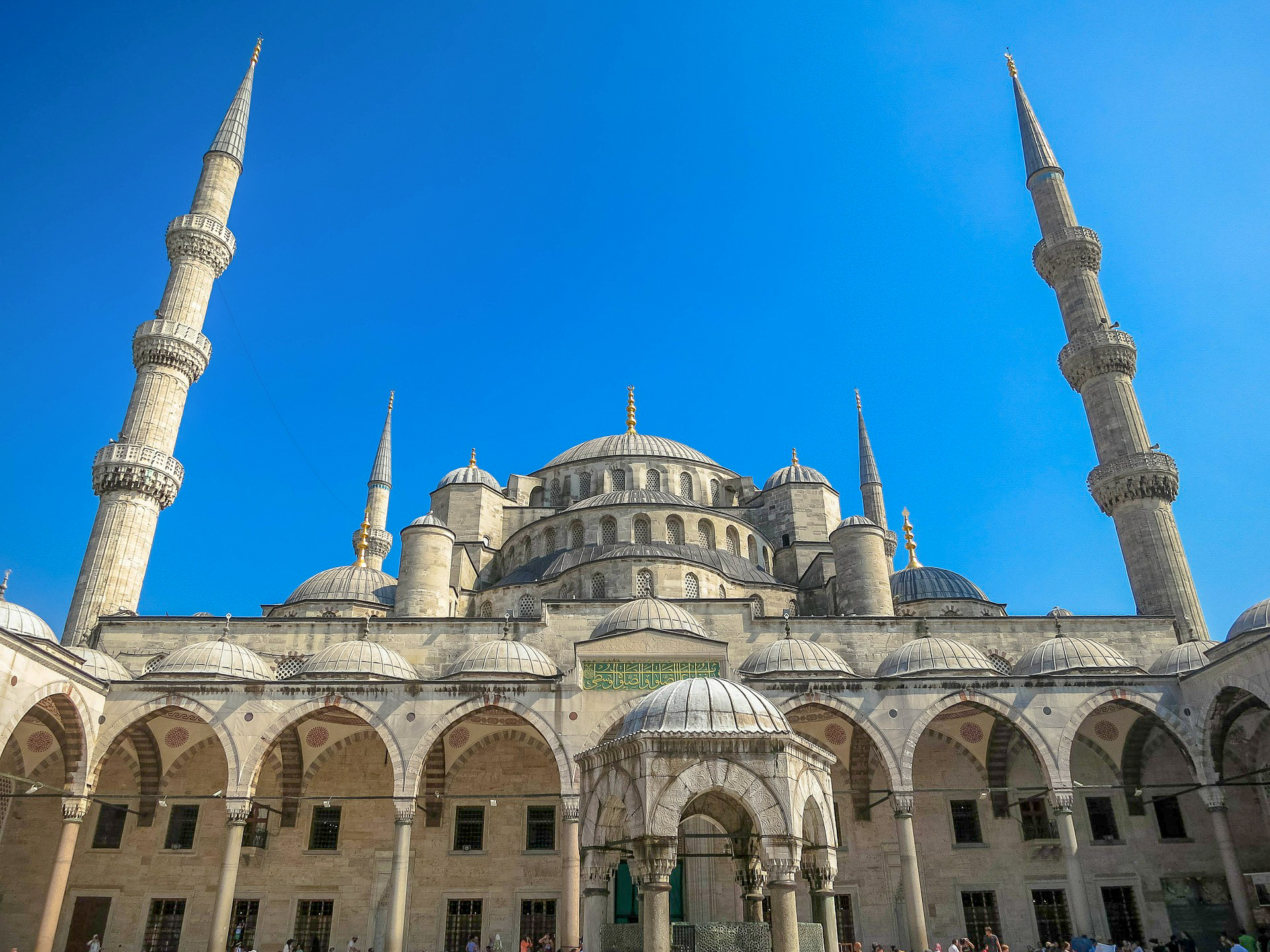 The Blue Mosque's grand minarets are a sight to behold.