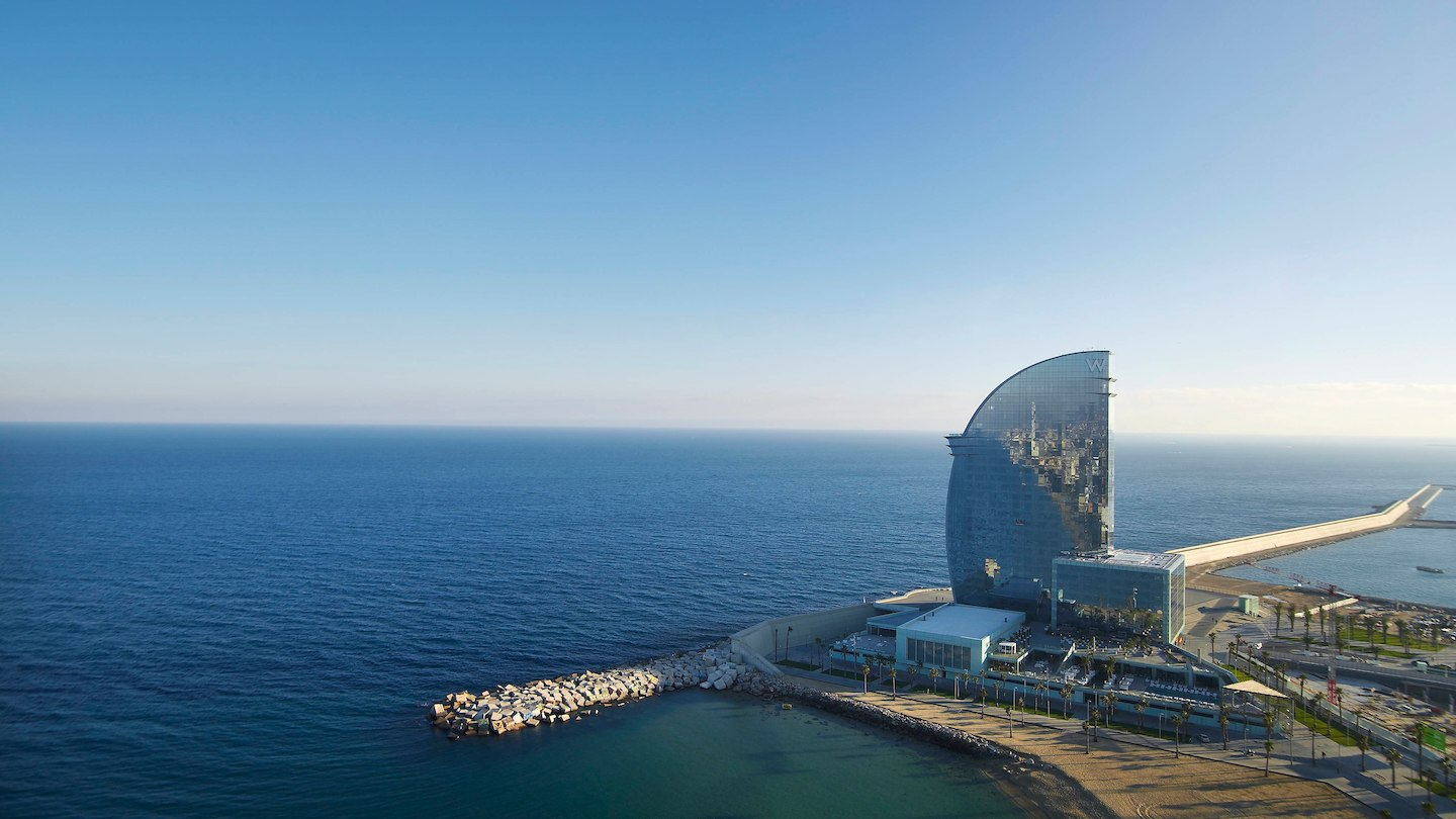 W Barcelona occupies an incredible location on the city's coastline. Image credit:  W Barcelona /Fair Use