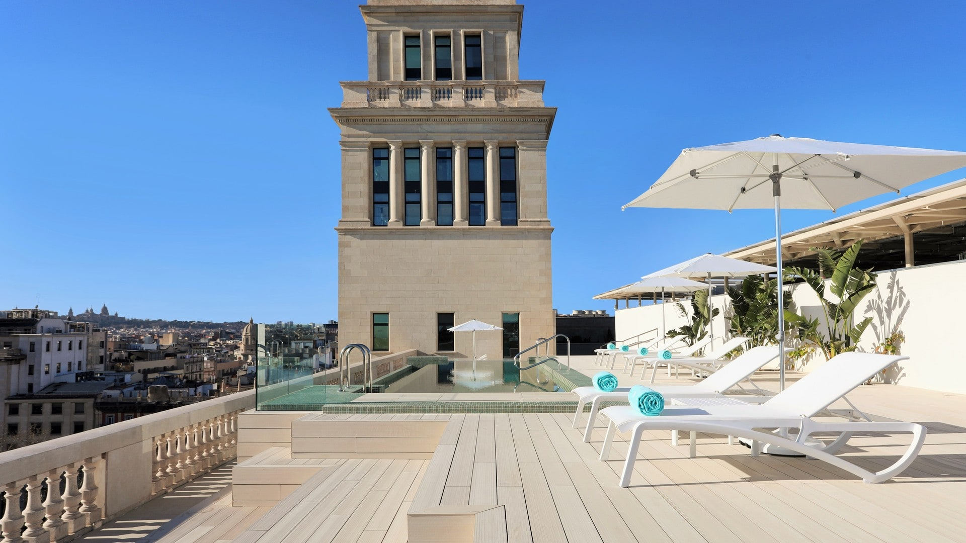 This hotel's rooftop is great for relaxing after a long day of seeing Barcelona's many sights. Image credit:    Iberostar Paseo de Gracia   /Fair Use