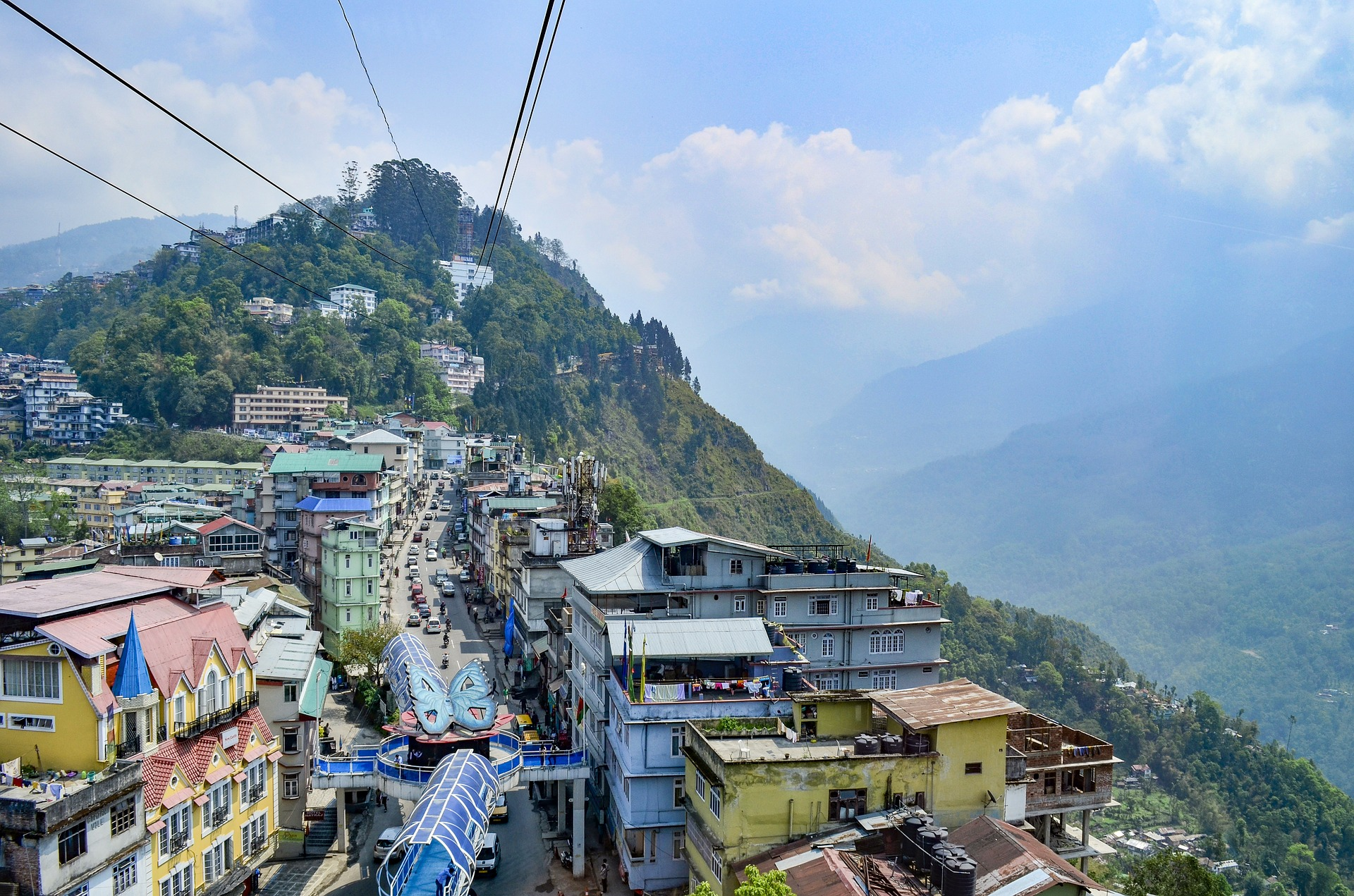 India's hill stations are beautiful, picturesque towns including Gangtok (pictured).