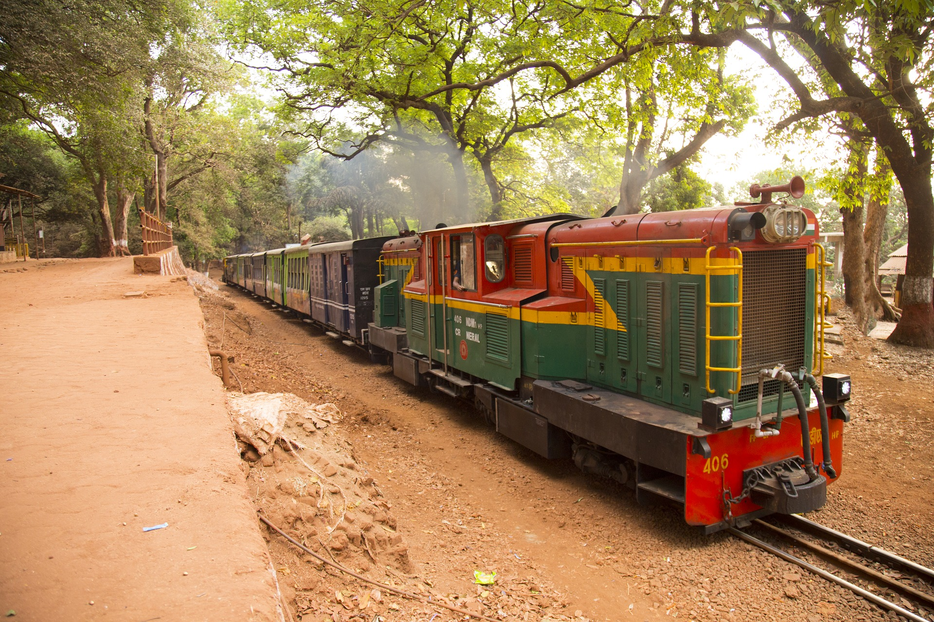 You can ride into Matheran by train.