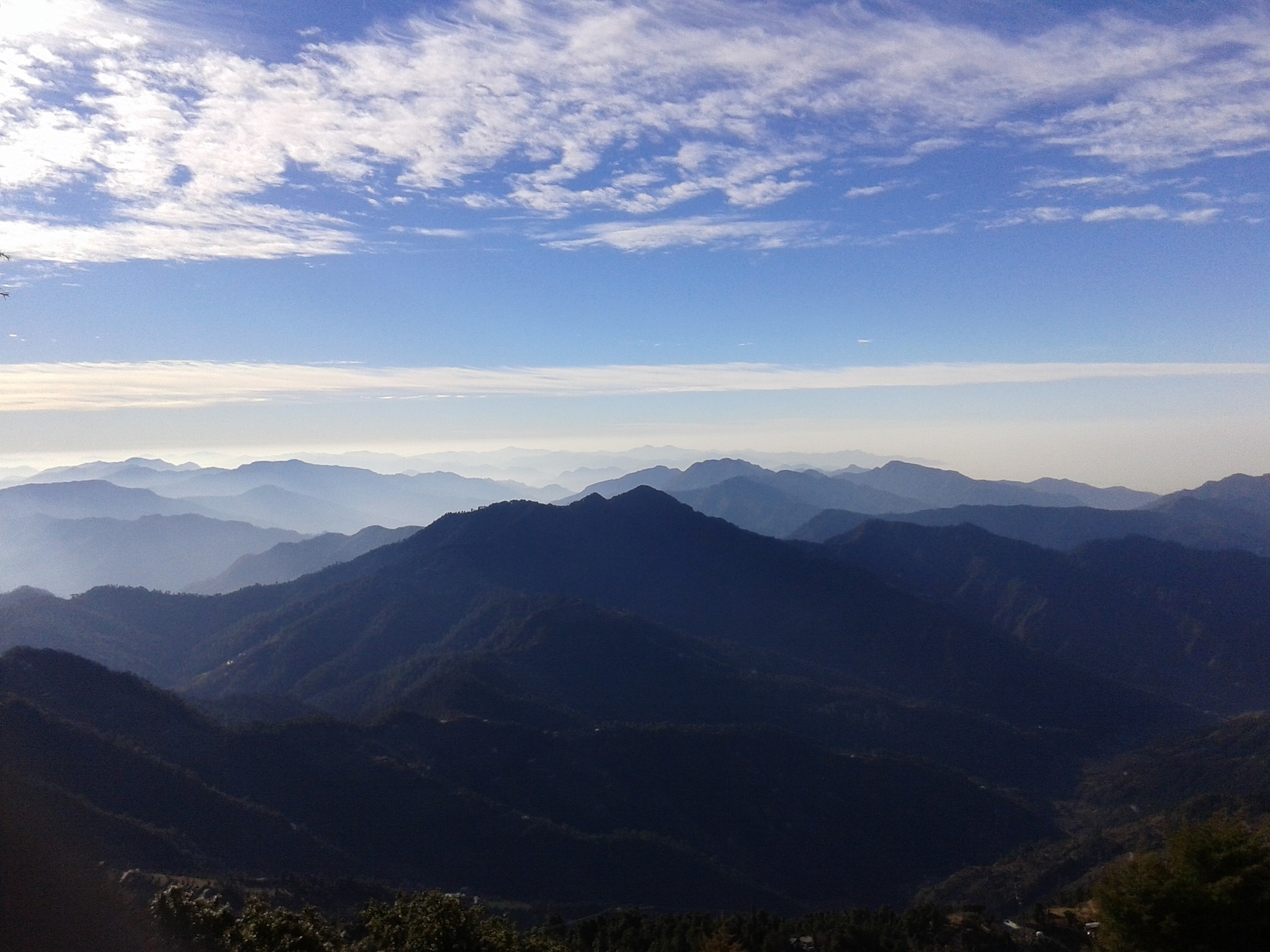 Catch breathtaking mountain views in Mussoorie.