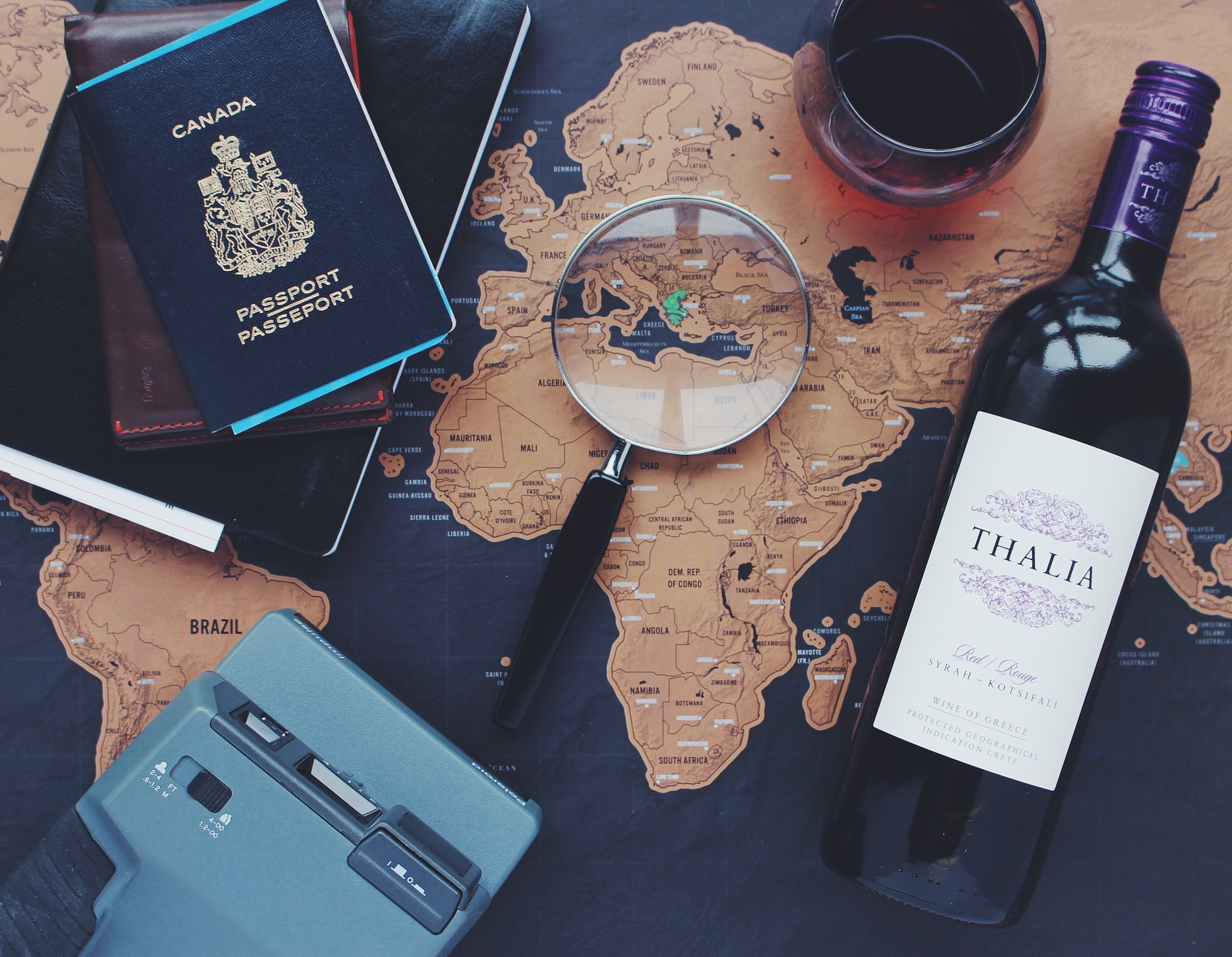 Travel-Essentials-Passport-Map-Wine
