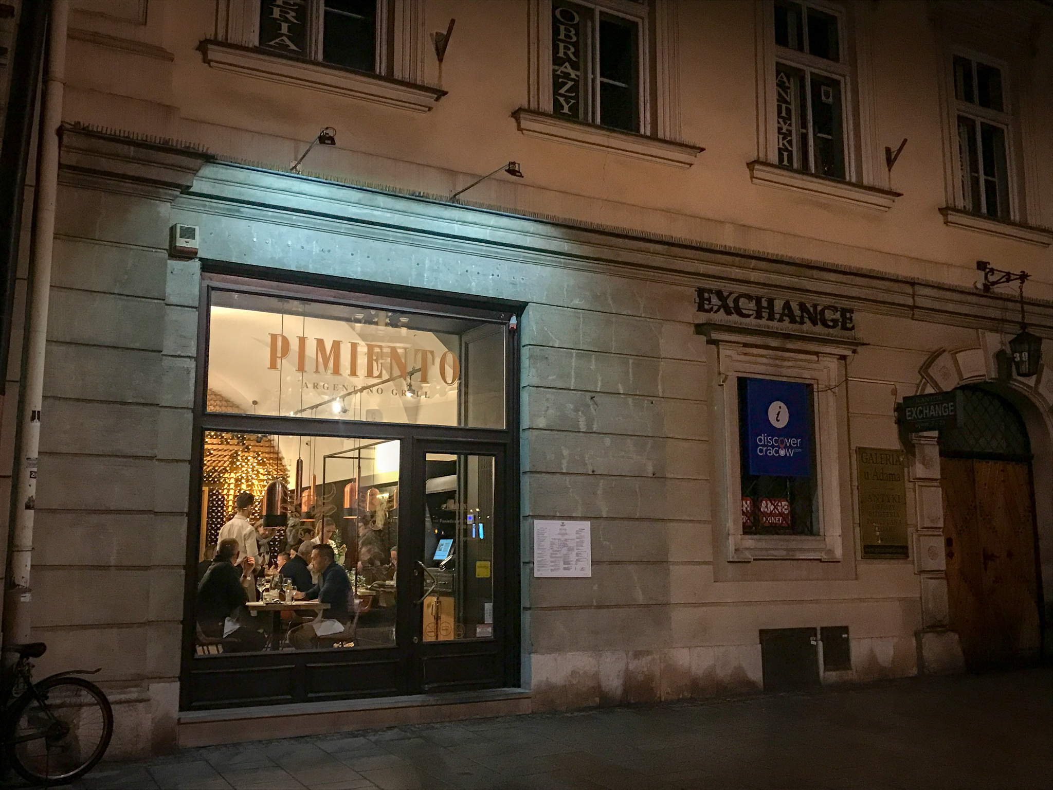 One of Pimiento's newest locations on Krakow's Main Square.