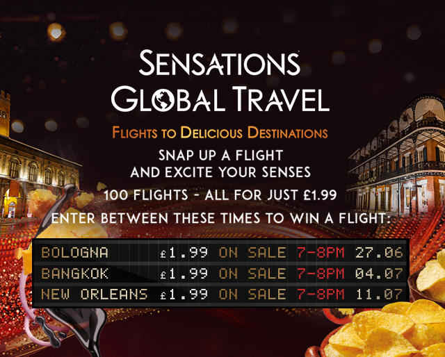 Here's a look at what you could win in the Sensations Global Travel Competition. Image credit:  Walkers Sensations /Fair Use