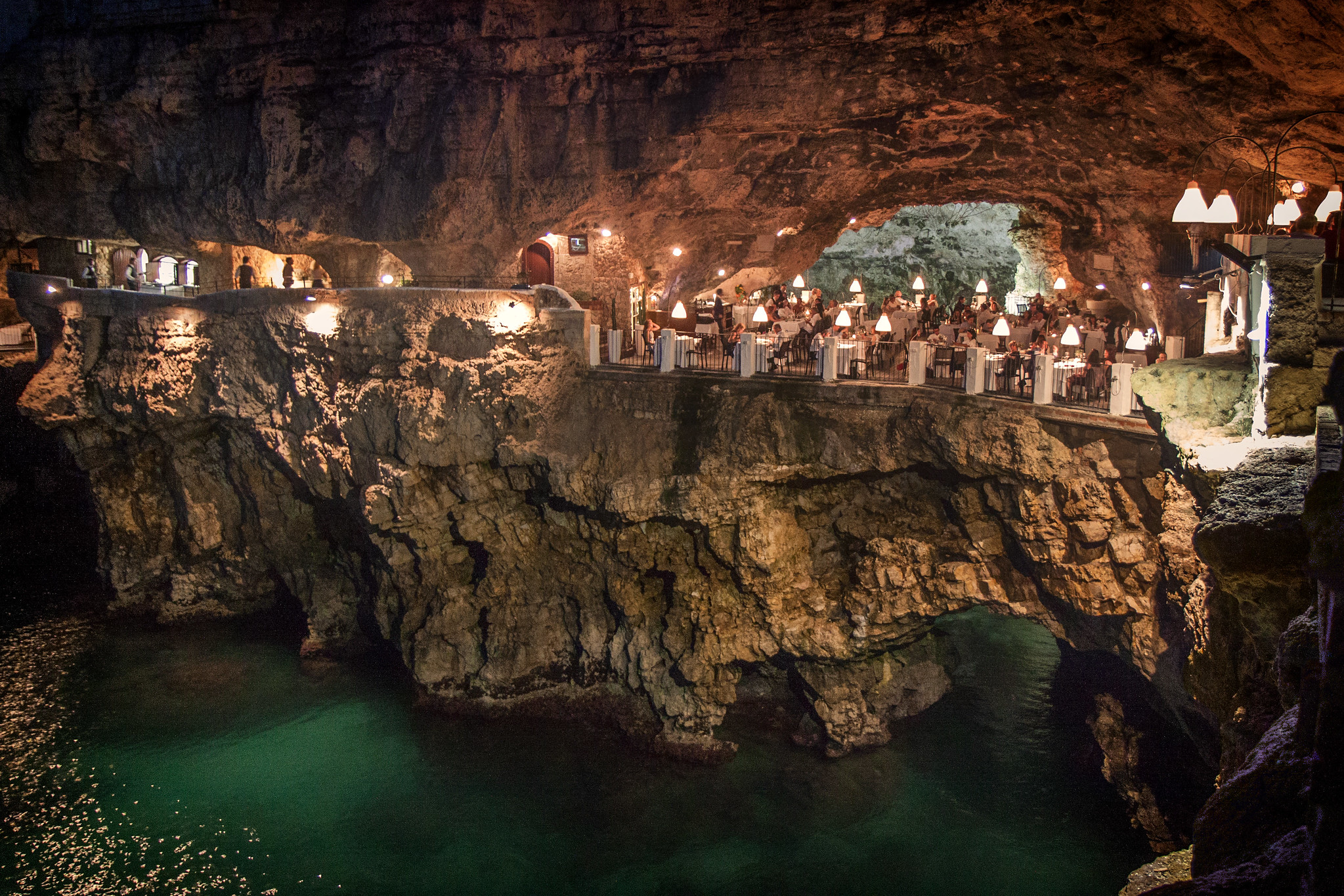 Grotta Palazzese by night. Image credit:    Claudio   /   Creative Commons