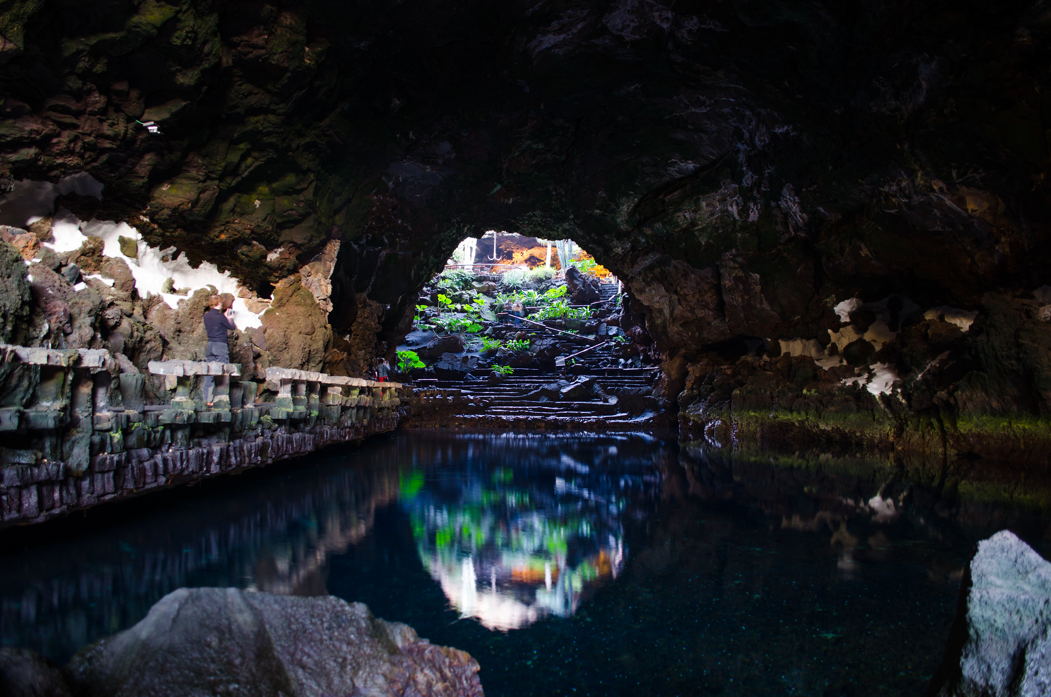 A look across the cave restaurant at Jameos del Agua in Lanzarote. Image credit:    Etitenne Girot   /   Creative Commons