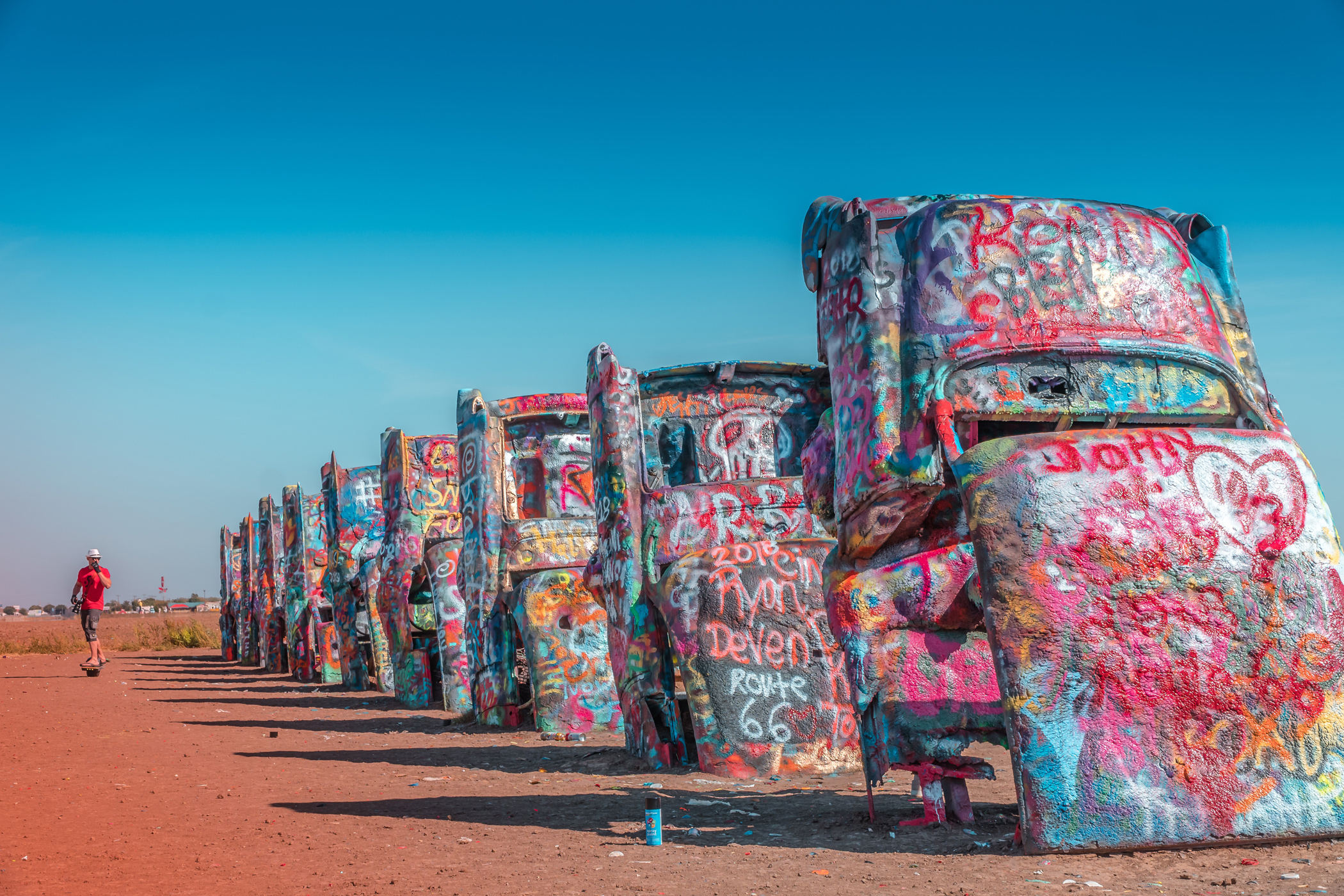 While it's not the work of Mother Nature, Cadillac Ranch is certainly a head-turner.