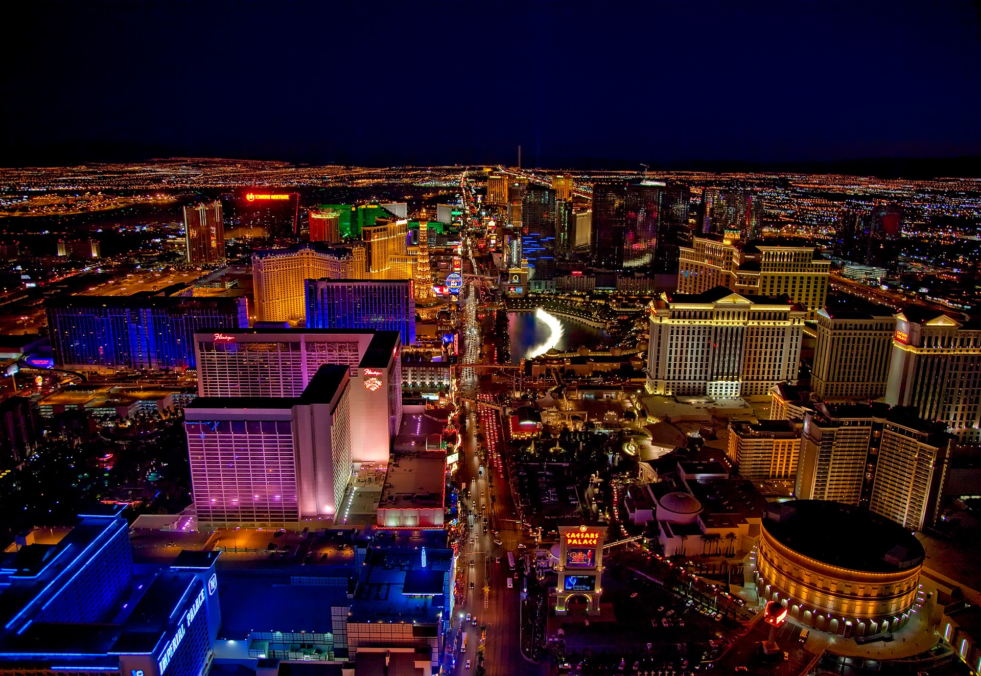 Las Vegas comes to life when the sun goes down.