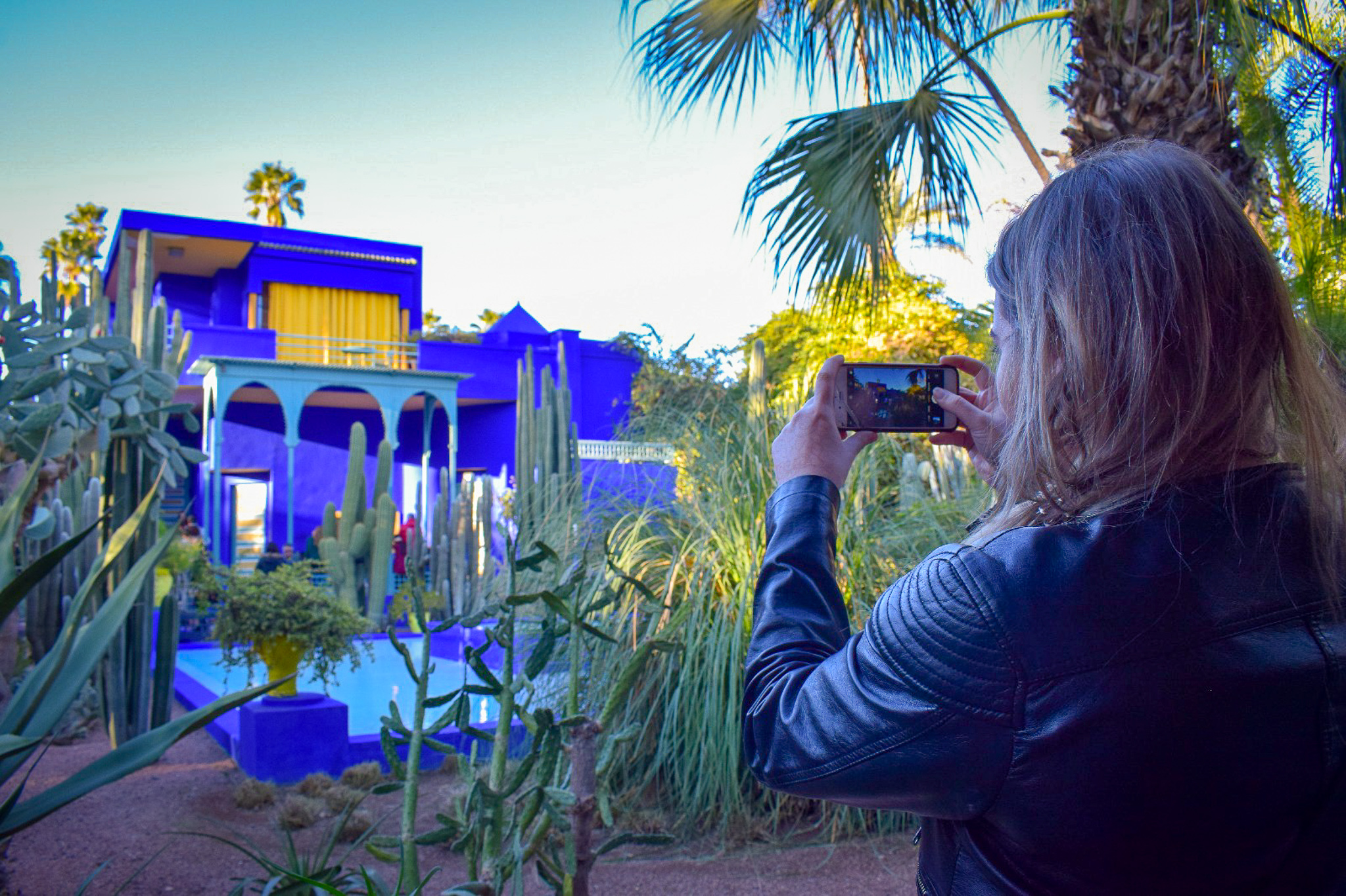 The blue building at Jardin Majorelle is one of Marakesh's most striking sights.