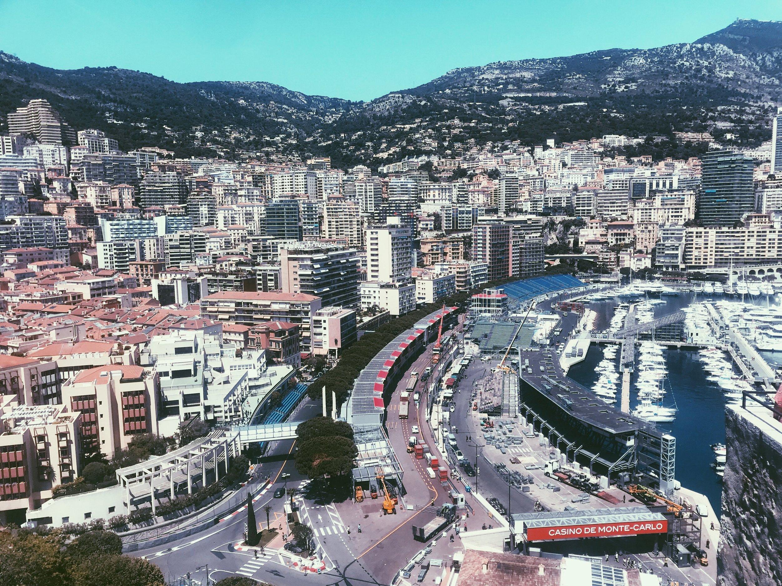Monaco getting ready for Grand Prix weekend.