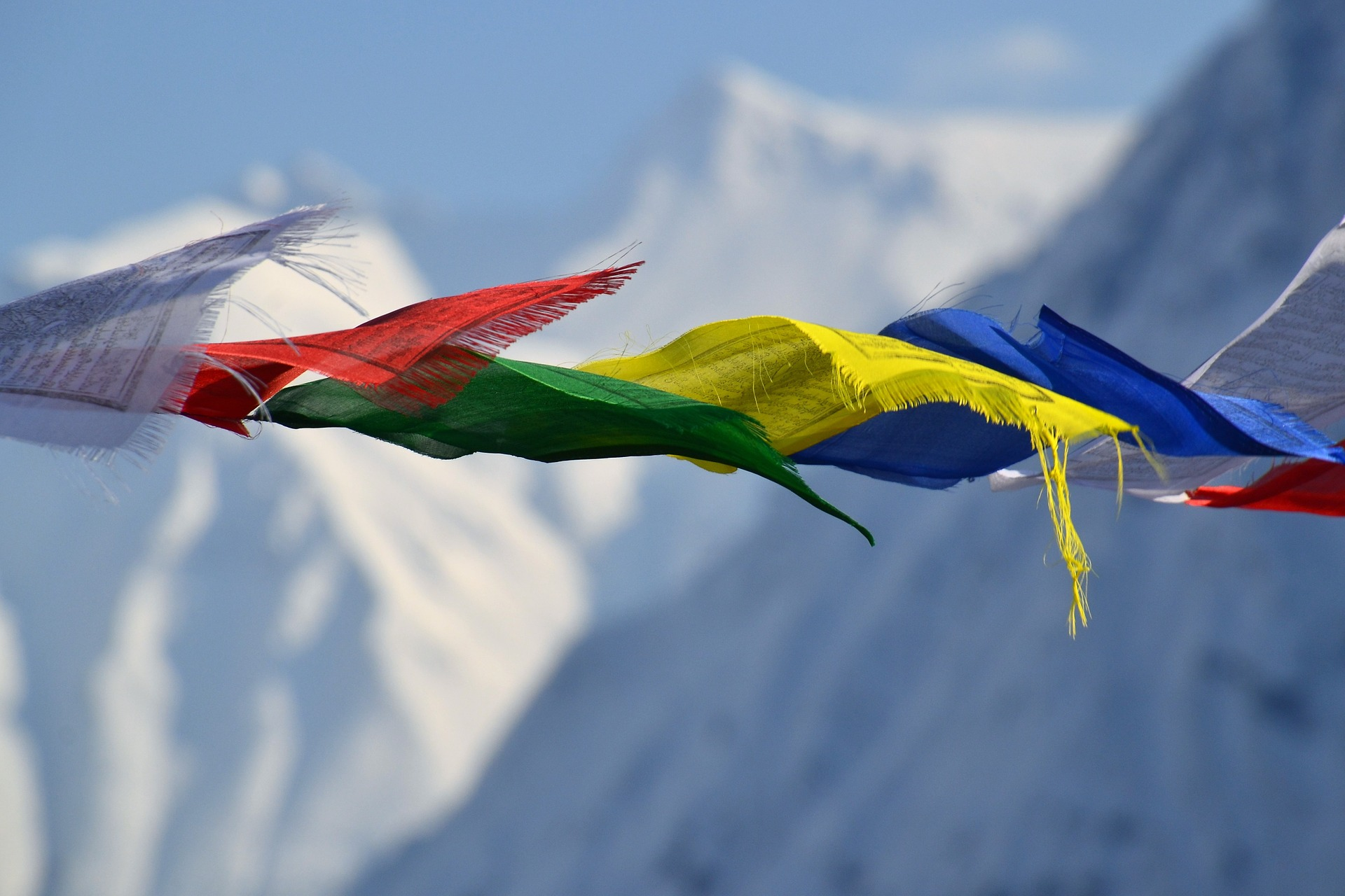 You can expect to see these Tibetan prayer flags in Nepal.