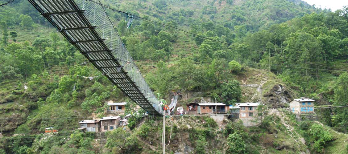 Bungee jumping in Nepal is not for the feint hearted.