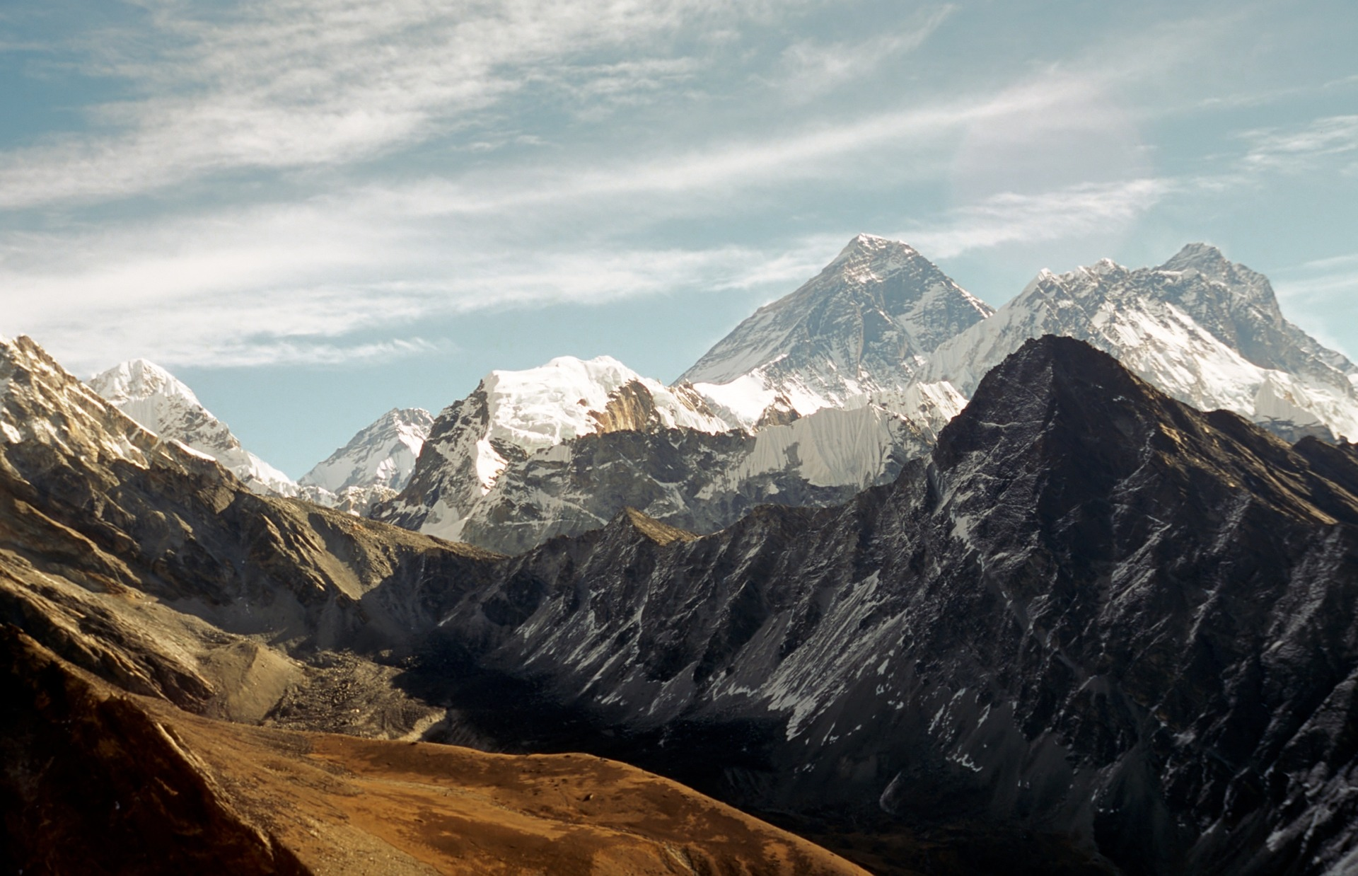The mountains rising high above Sagarmatha National Park.