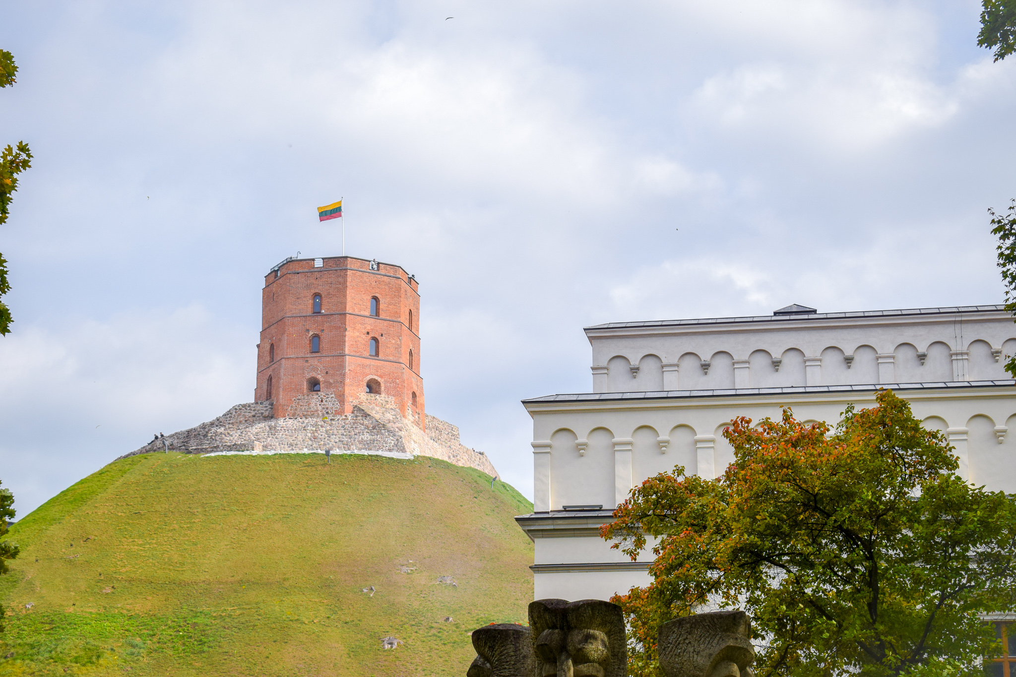Gediminas' Tower stands proudly on Castle Hill in Vilnius, Lithuania.