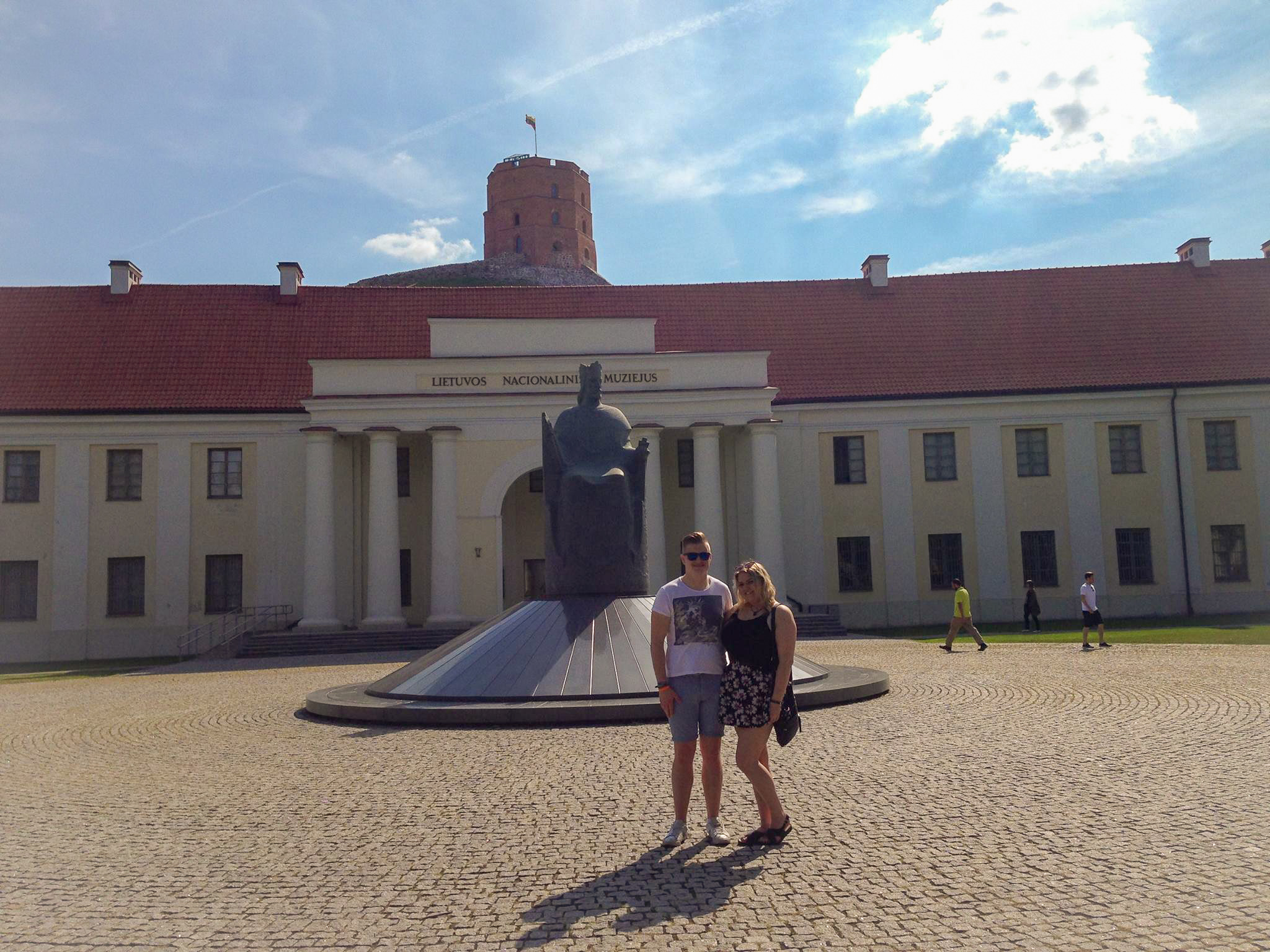 The first time I visited Vilnius was with my girlfriend. Here we are outside Lithuania's National Museum, which sits at the foot of Castle Hill.