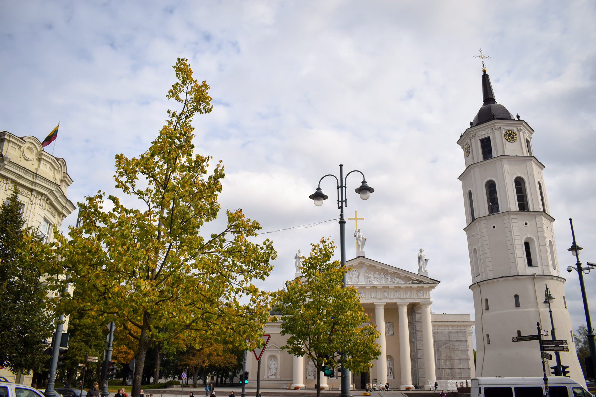 Vilnius Cathedral and Bell Tower - an example of the city's beutiful architecture.