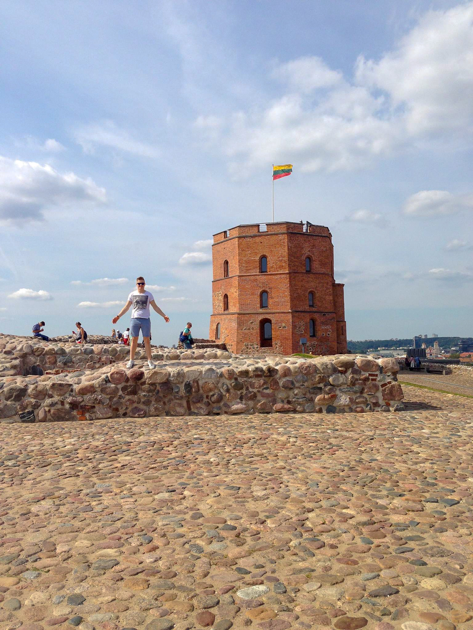 The first image I used on a blog post on this website was of me atop Castle Hill with Gediminas' Tower in the background.