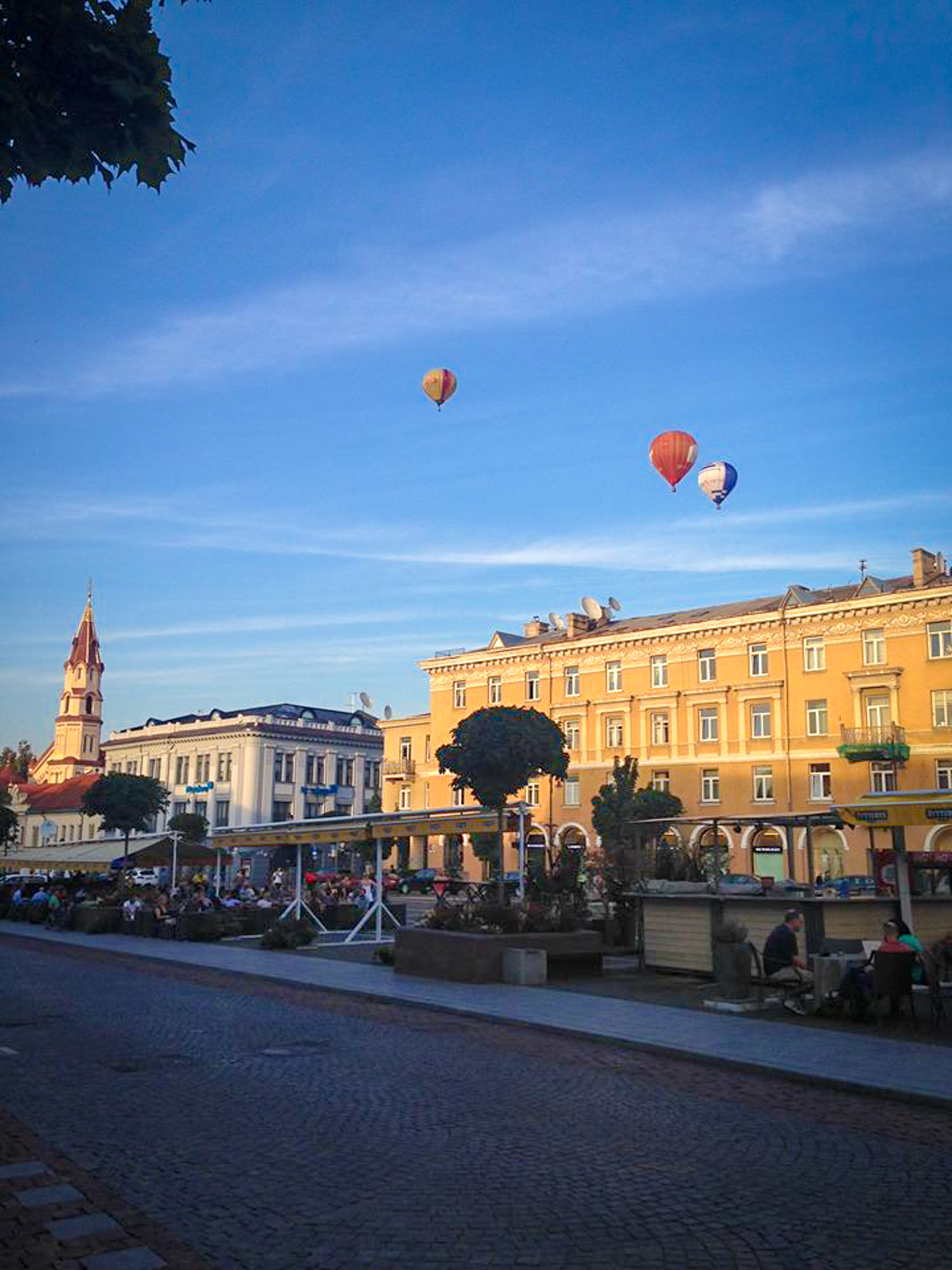 One of my fondest memories of that trip was watching the hot air balloons floating over Town Hall Square.