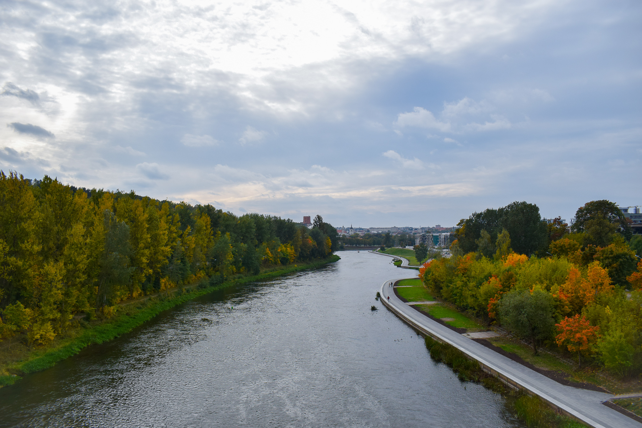 The River Neris runs right through Vilnius.