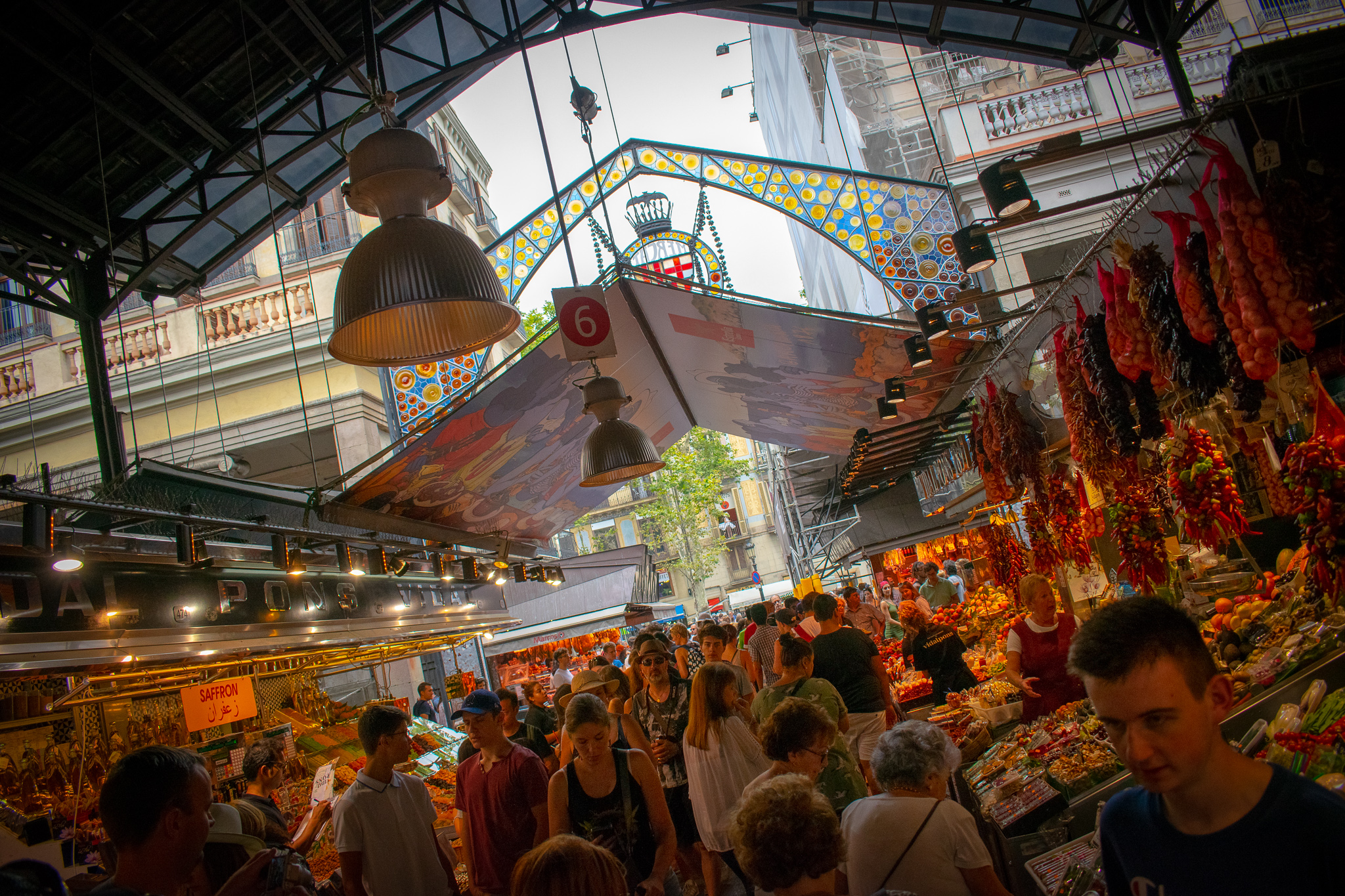 La Boqueria is the place to go for street food vibes in Barca.