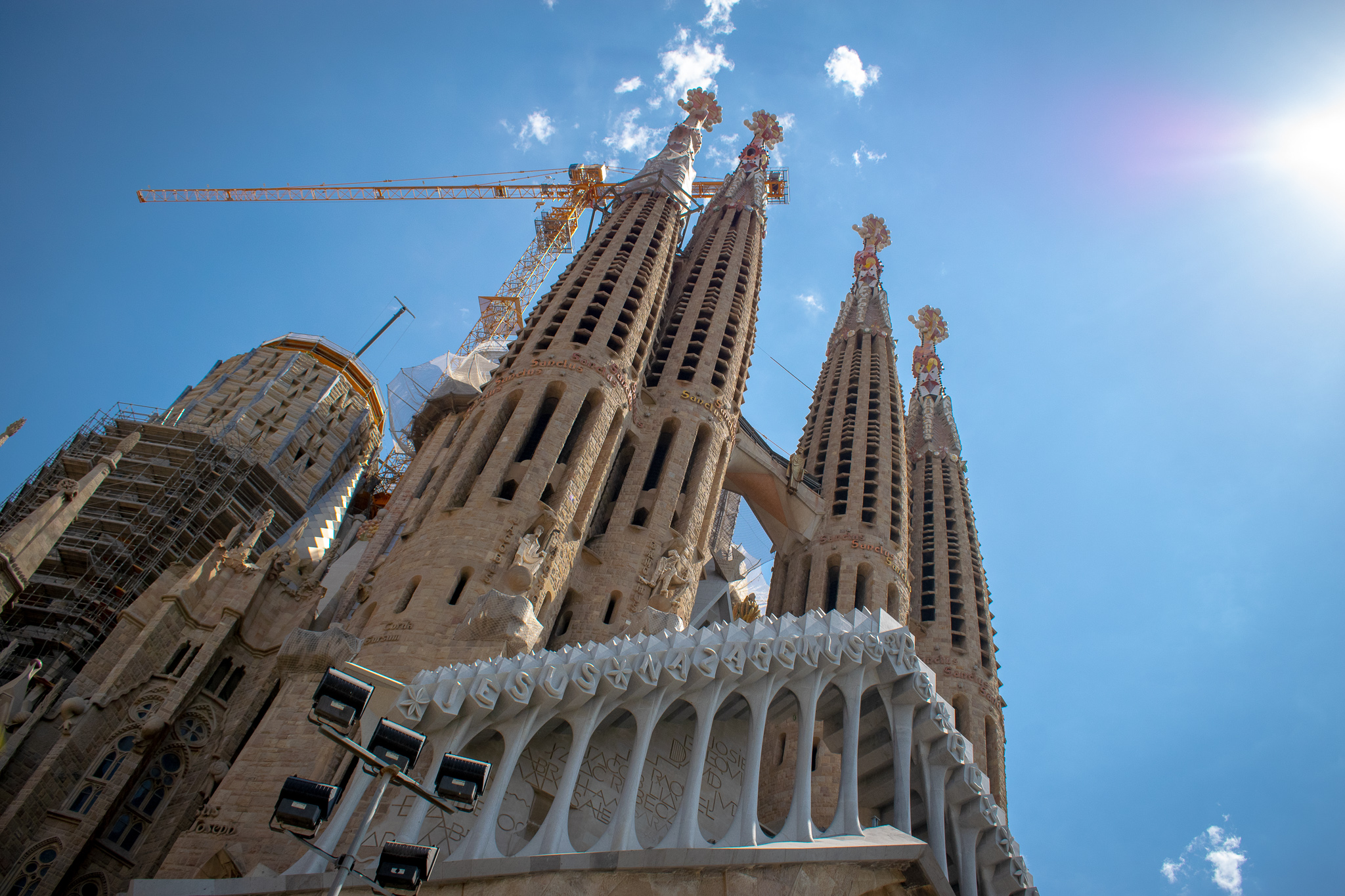 Cranes are part and parcel of the Sagrada Família experience as it is yet to be completed.