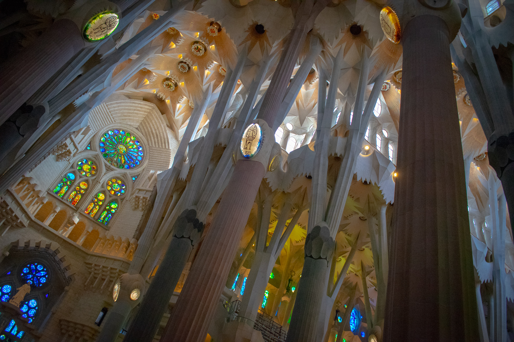 The interior of Sagrada Família is absolutely jaw-dropping.