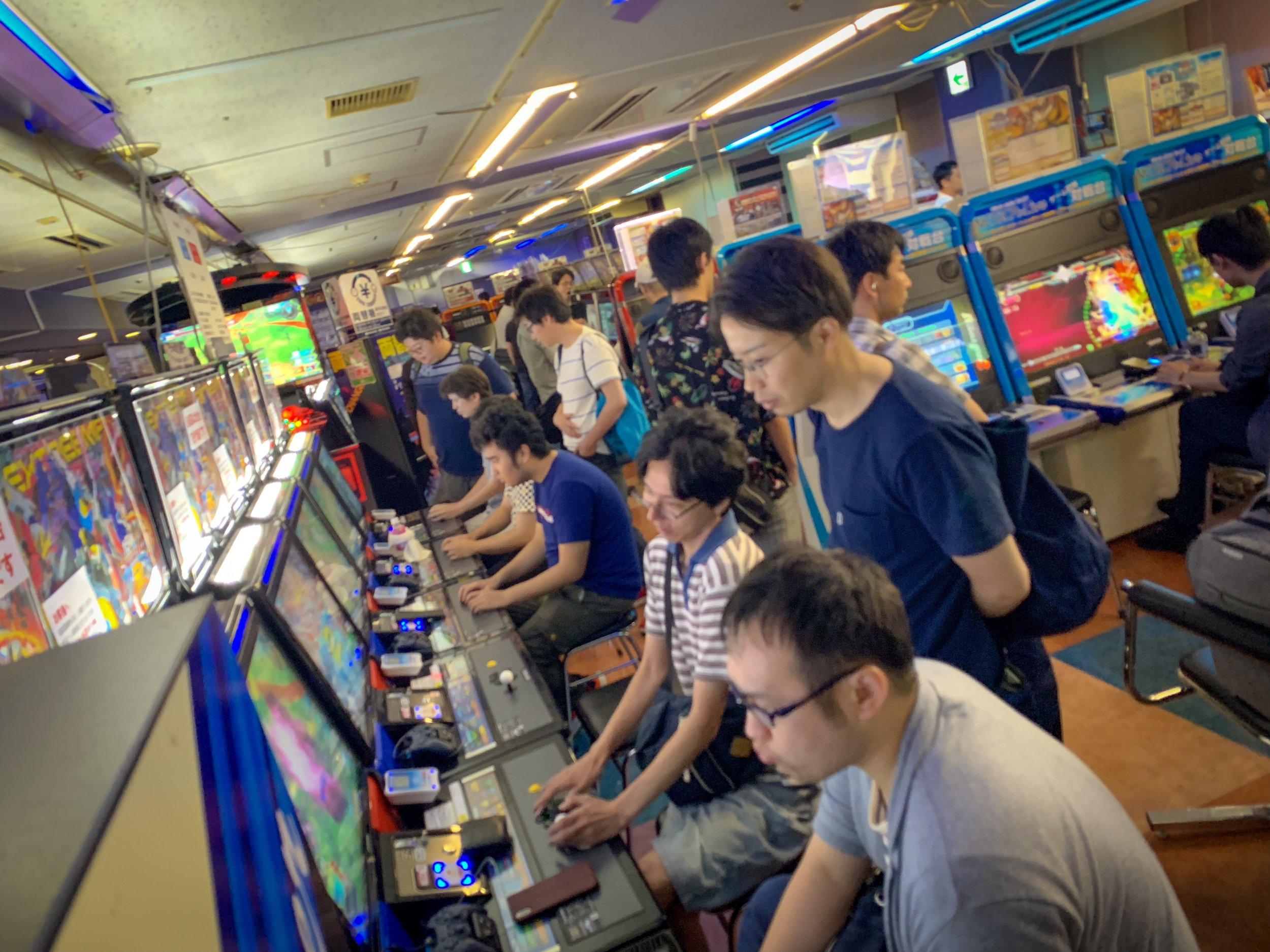 Locals hit the arcades in Akihabara.
