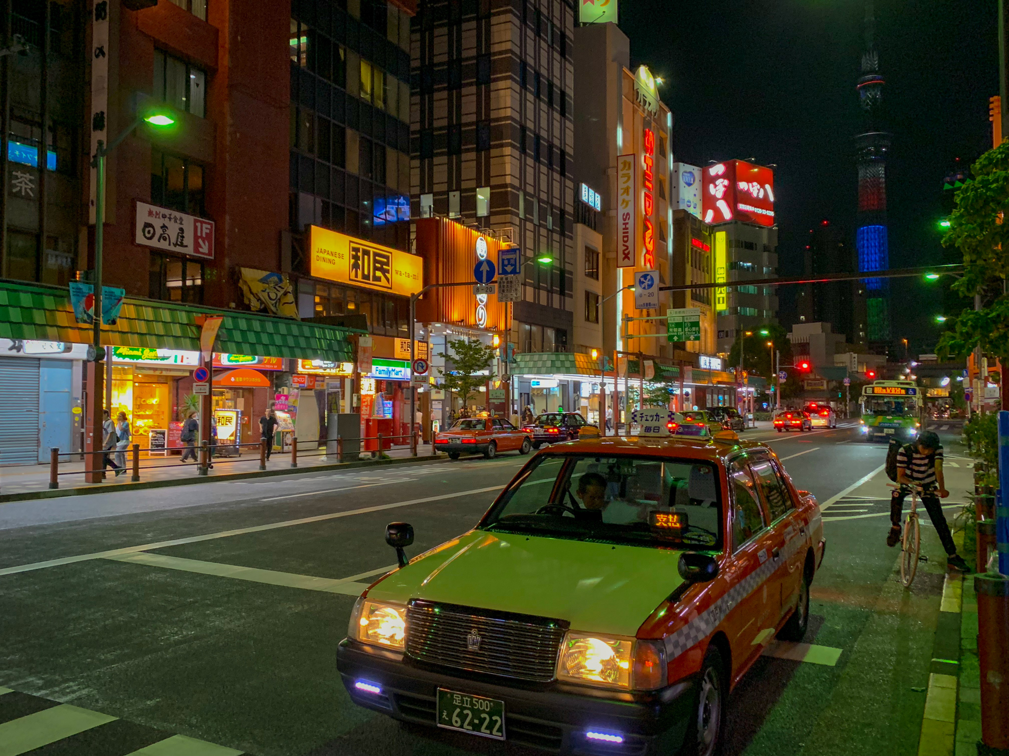 Taxis with automatic back doors are another one of Tokyo's cool little quirks.