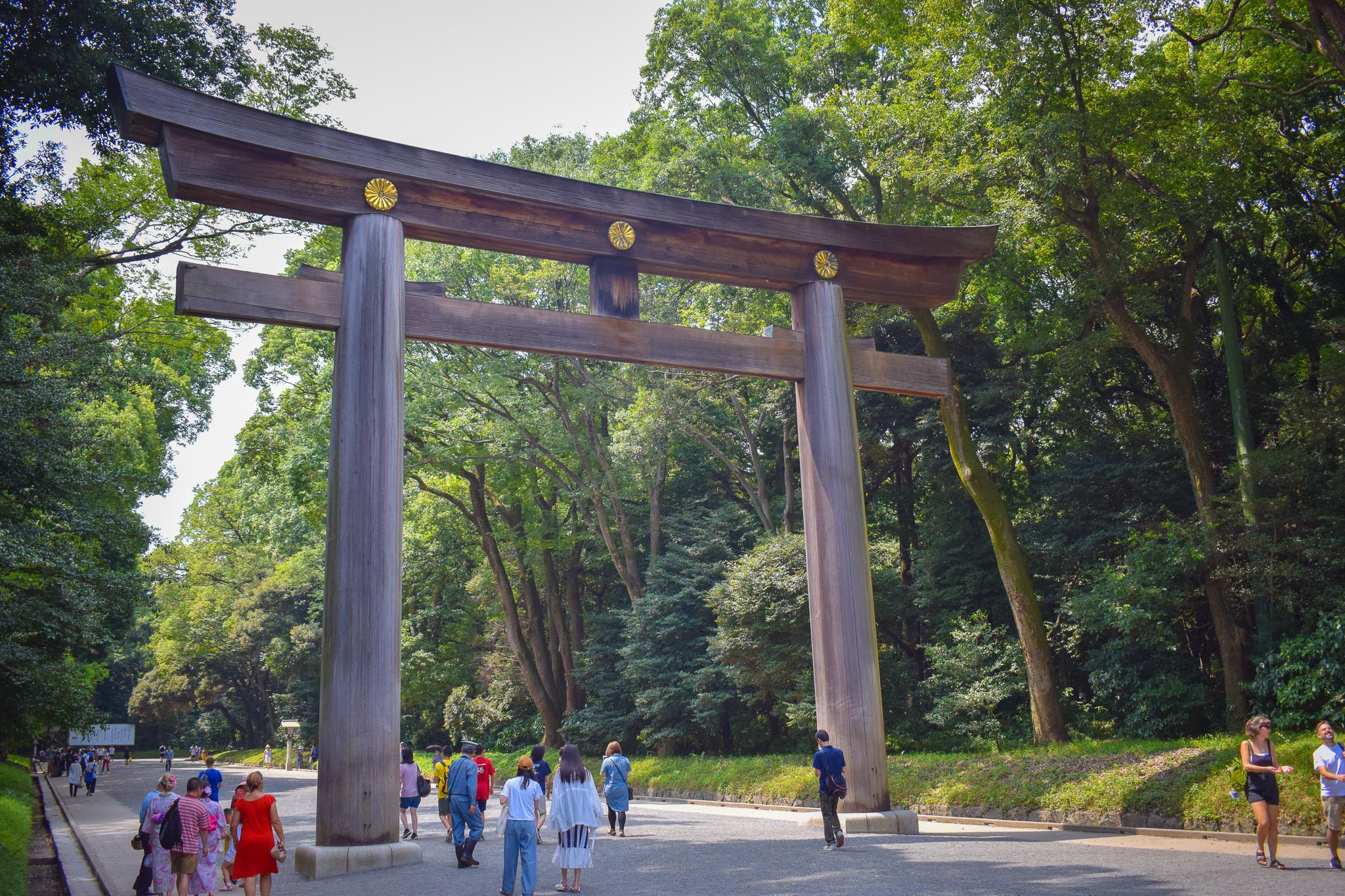 An archway at Meiji Jungu Shrine.
