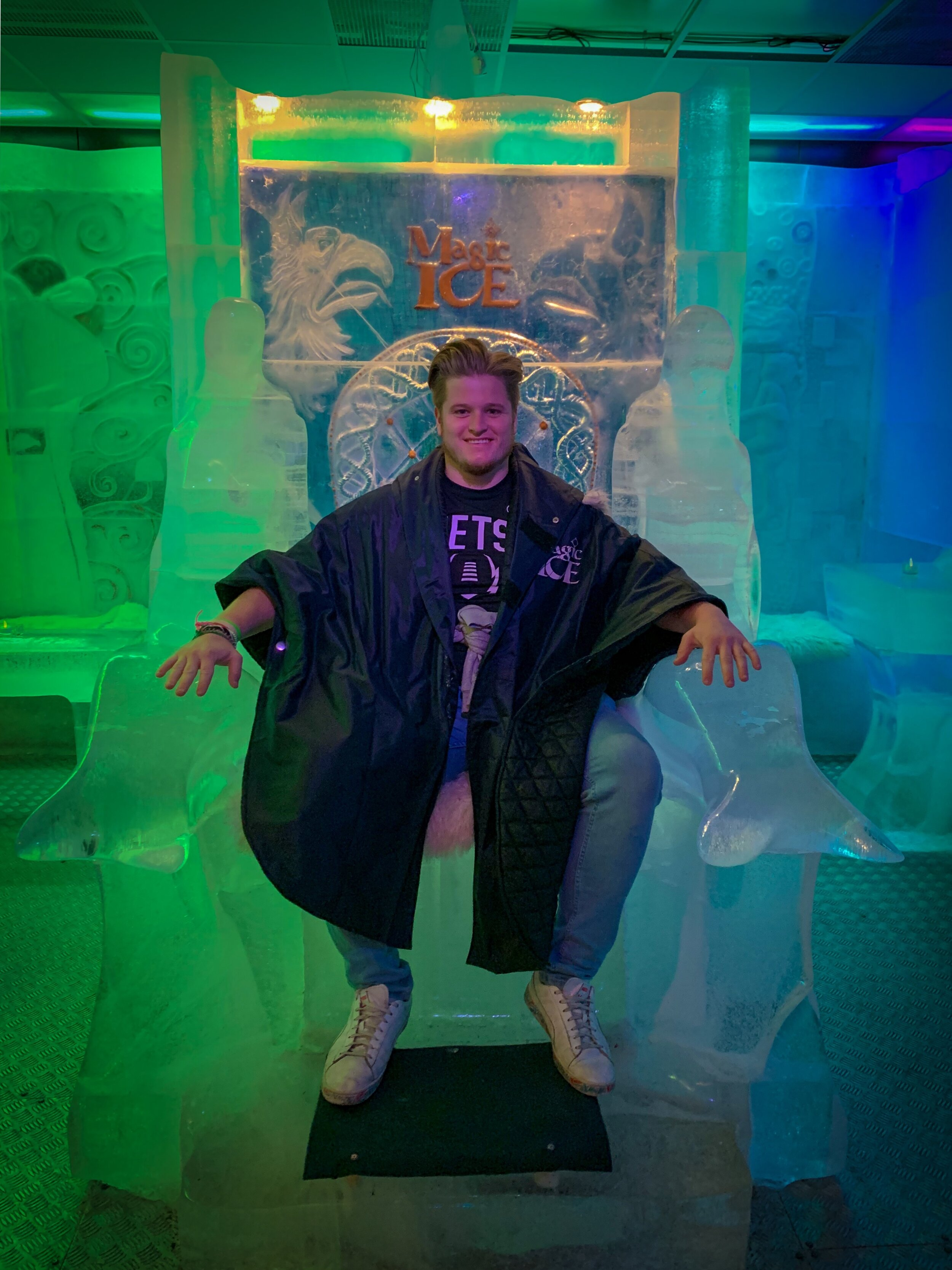 At Bergen's Magic Ice Bar in September on a trip I took for work.
