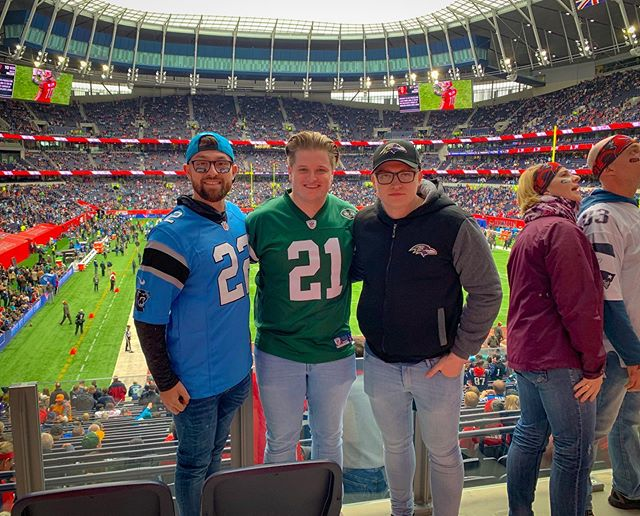 Top couple of days in London with the lids for the NFL last weekend! 🏈