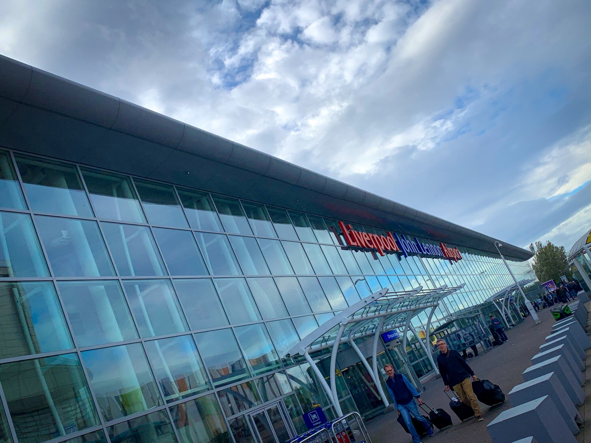 The exterior of Liverpool John Lennon Airport.