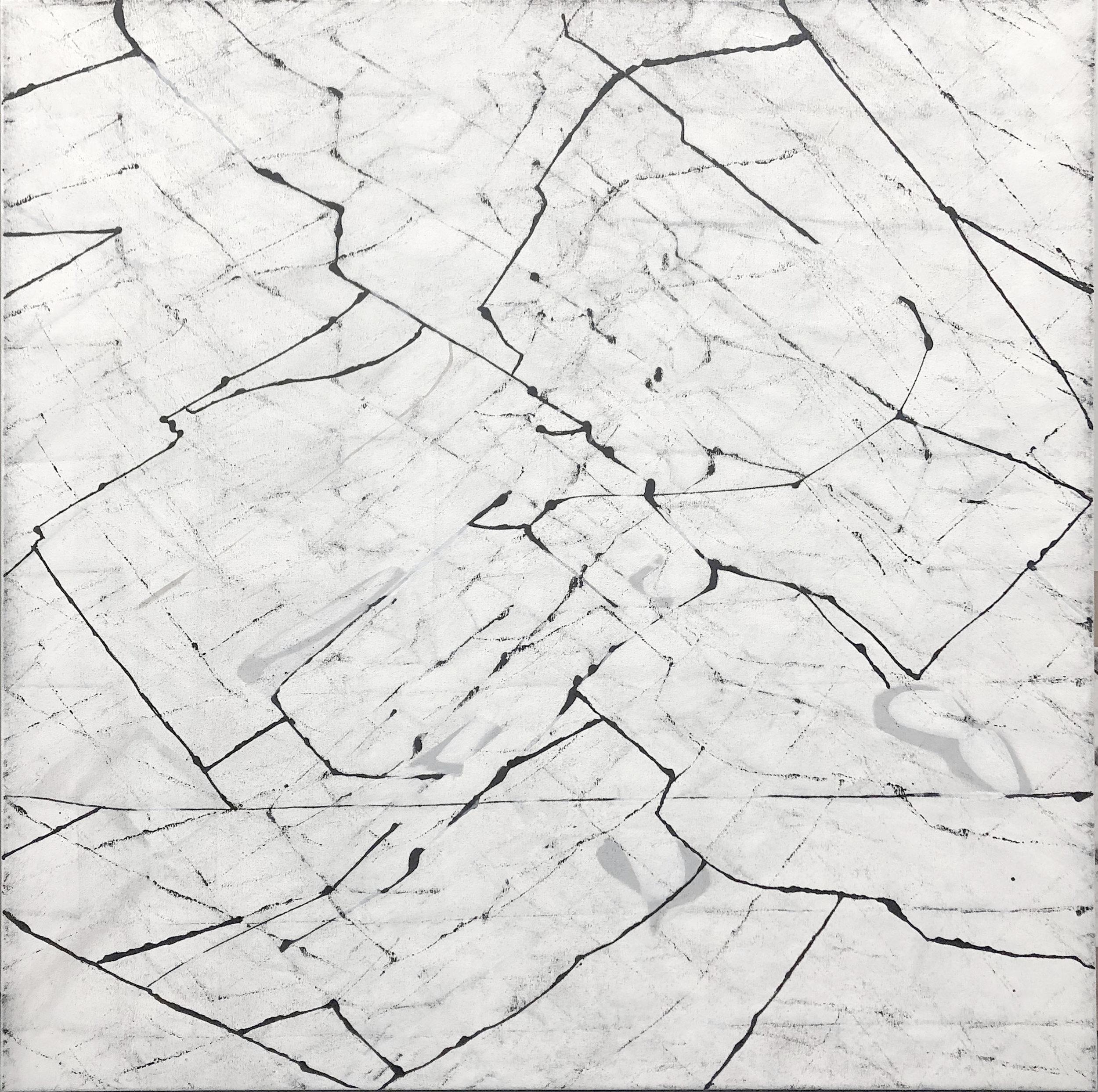 Furl, 36x36, Oil on Canvas
