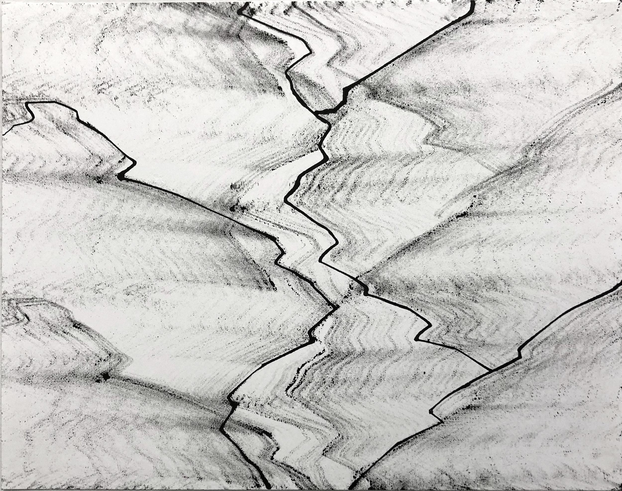 Bzr, 11x14, Ink on Paper