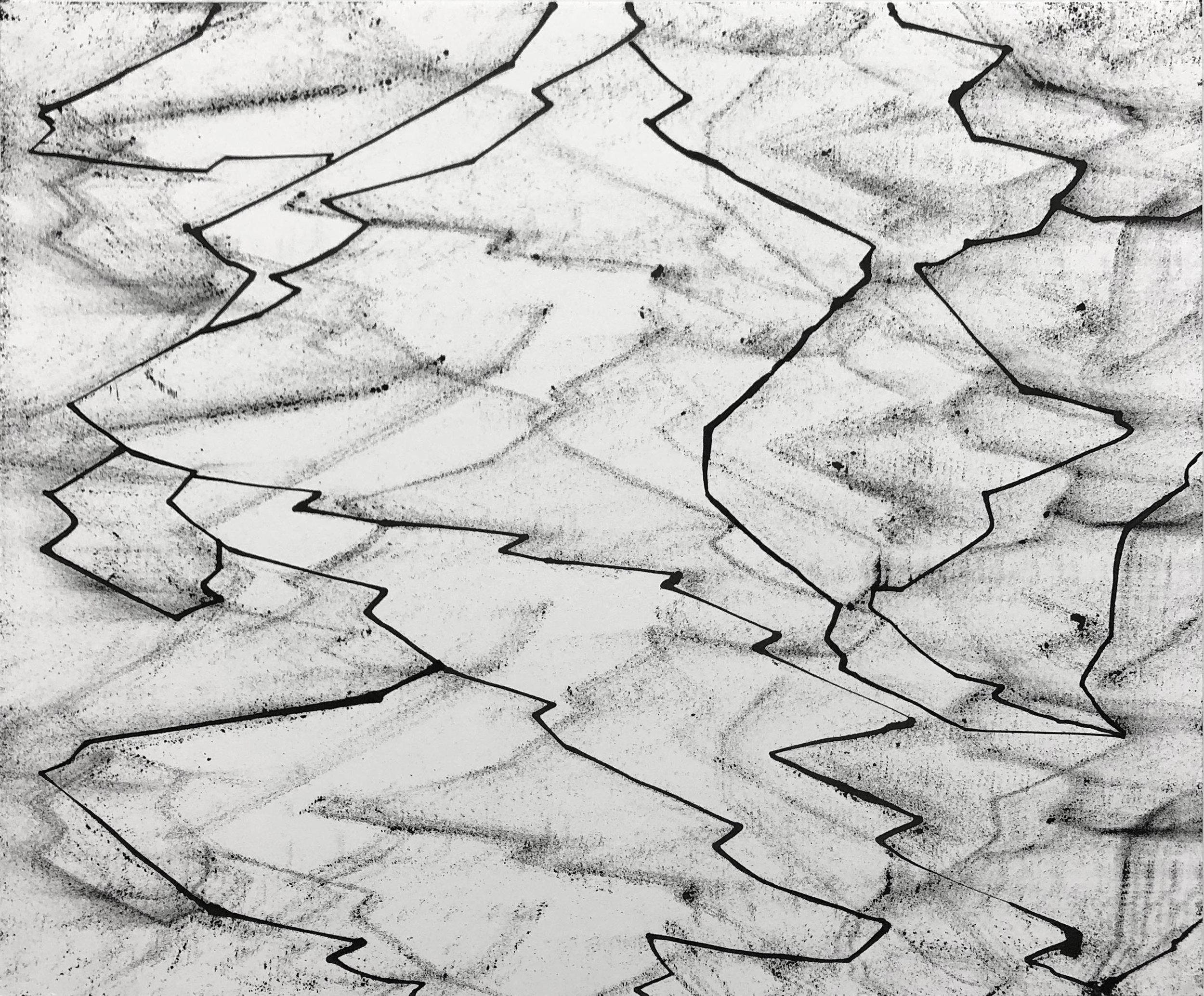 Peer, 14x17, Ink on Paper