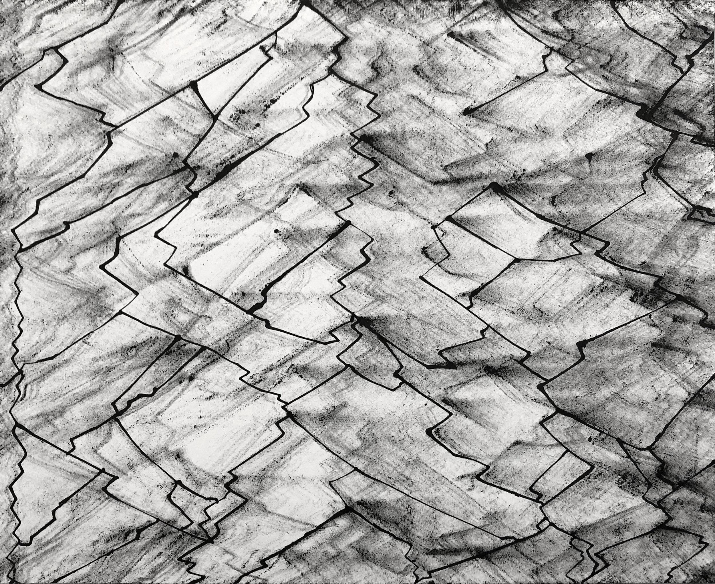Plea, 14x17, Ink on Paper