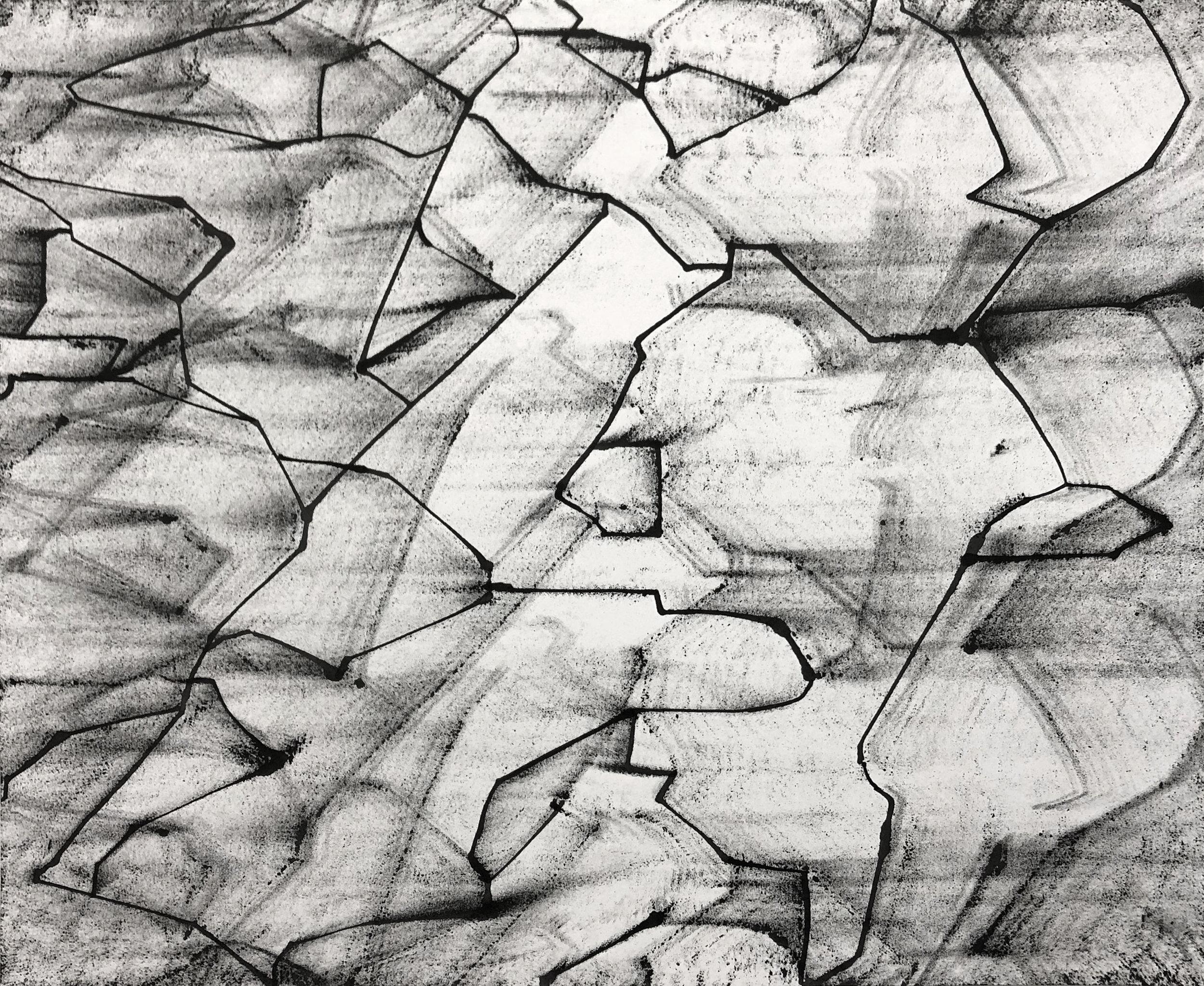 Plz, 14x17, Ink on Paper