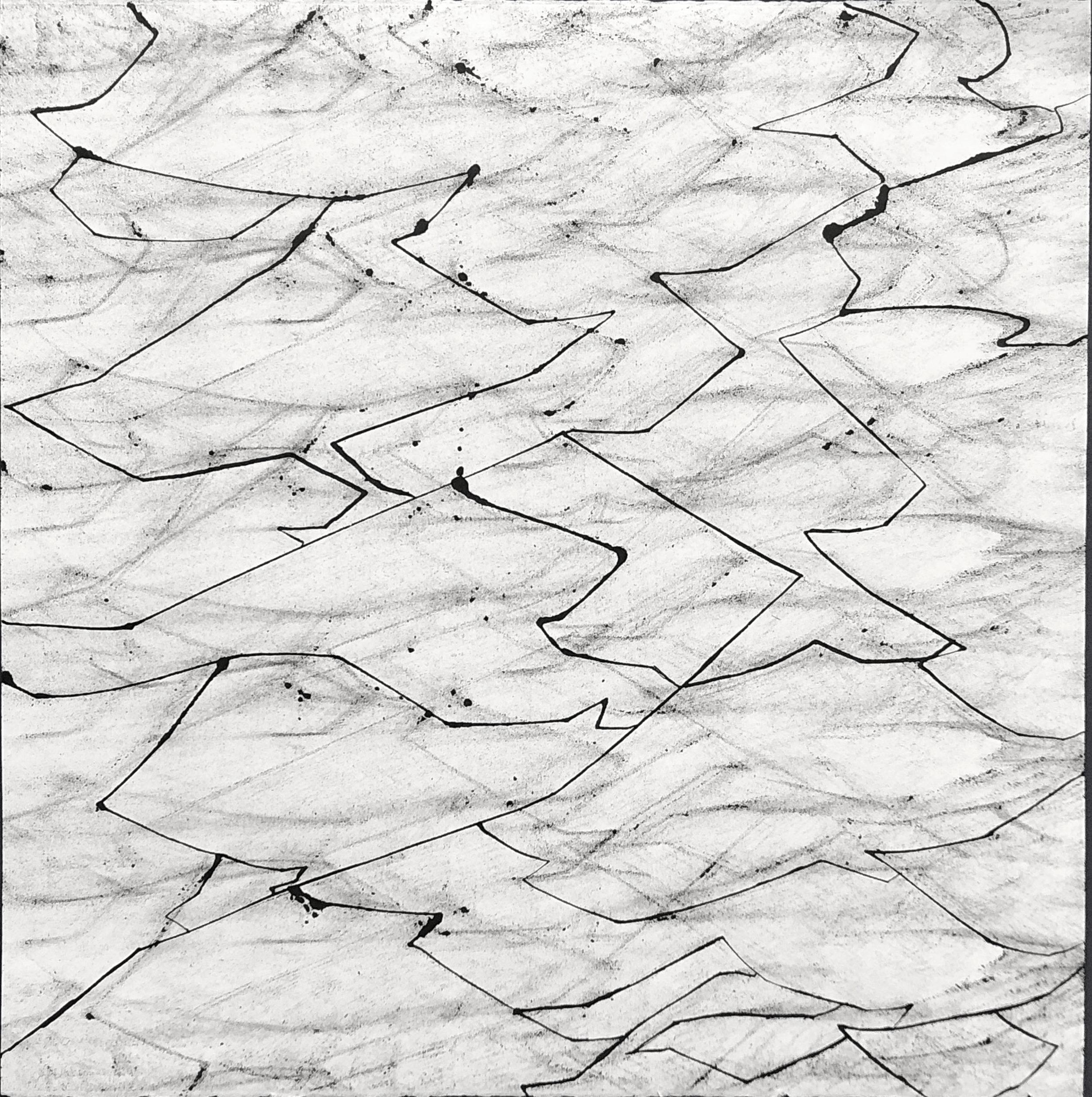 Sentencings, 22.5x22.5, Ink on Paper