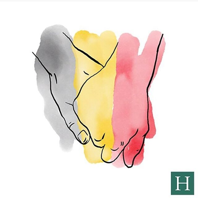 We stand with Brussels. Repost from @huffingtonpost #BrusselsAttacks #TogetherWeStand