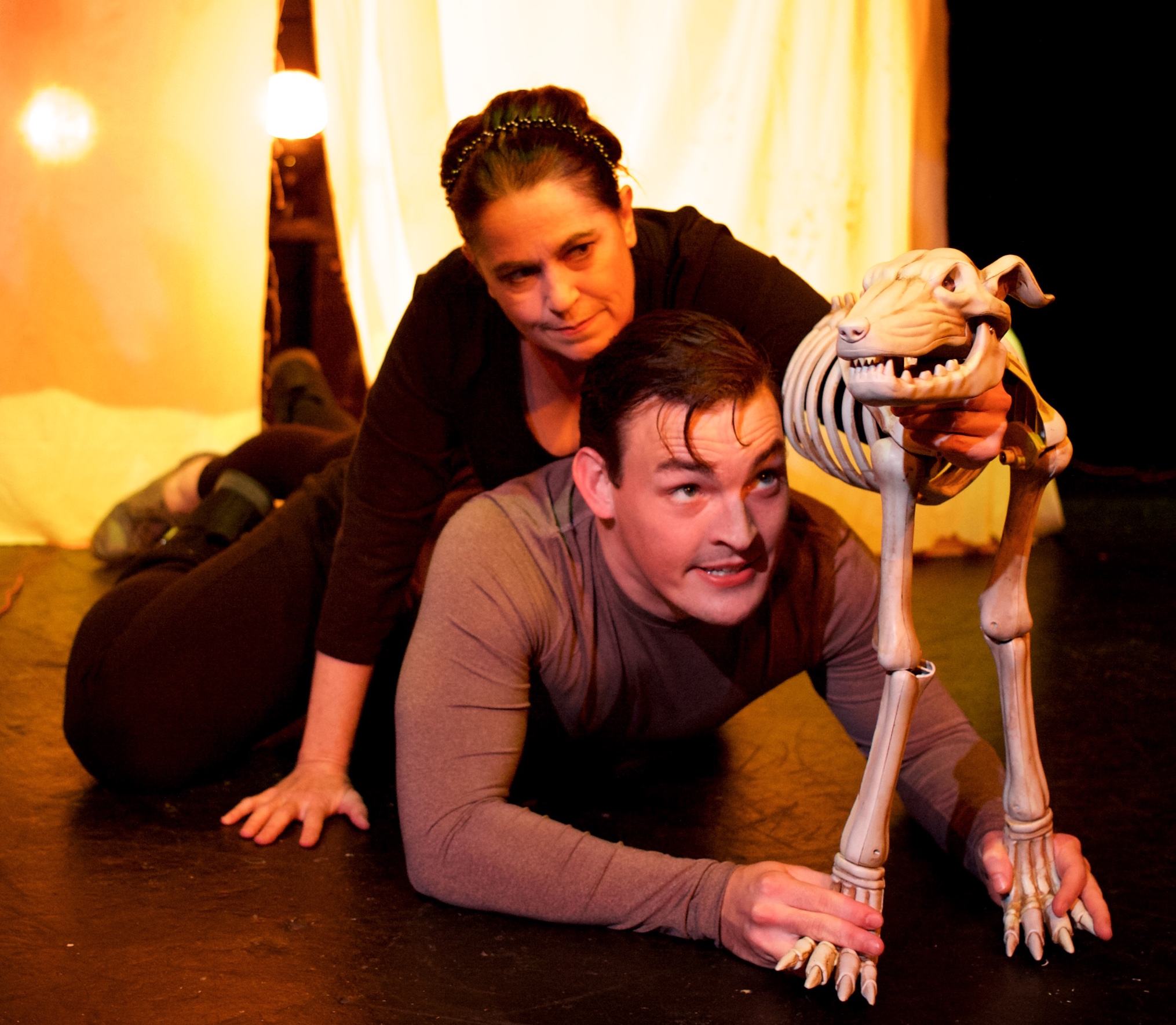 The DOG (with Chris Daileader) in  Witch  (Convergence Theatre)  Photo Credit: Ryan Maxwell