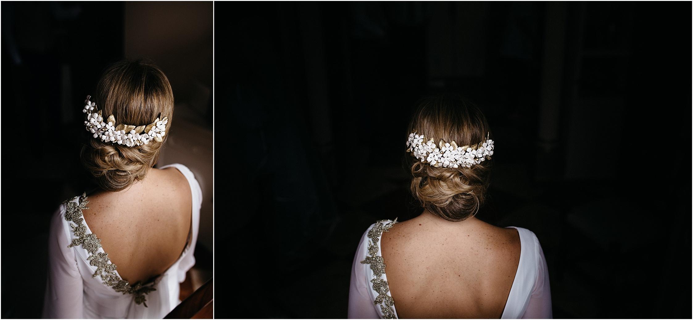 flower crown bride wedding