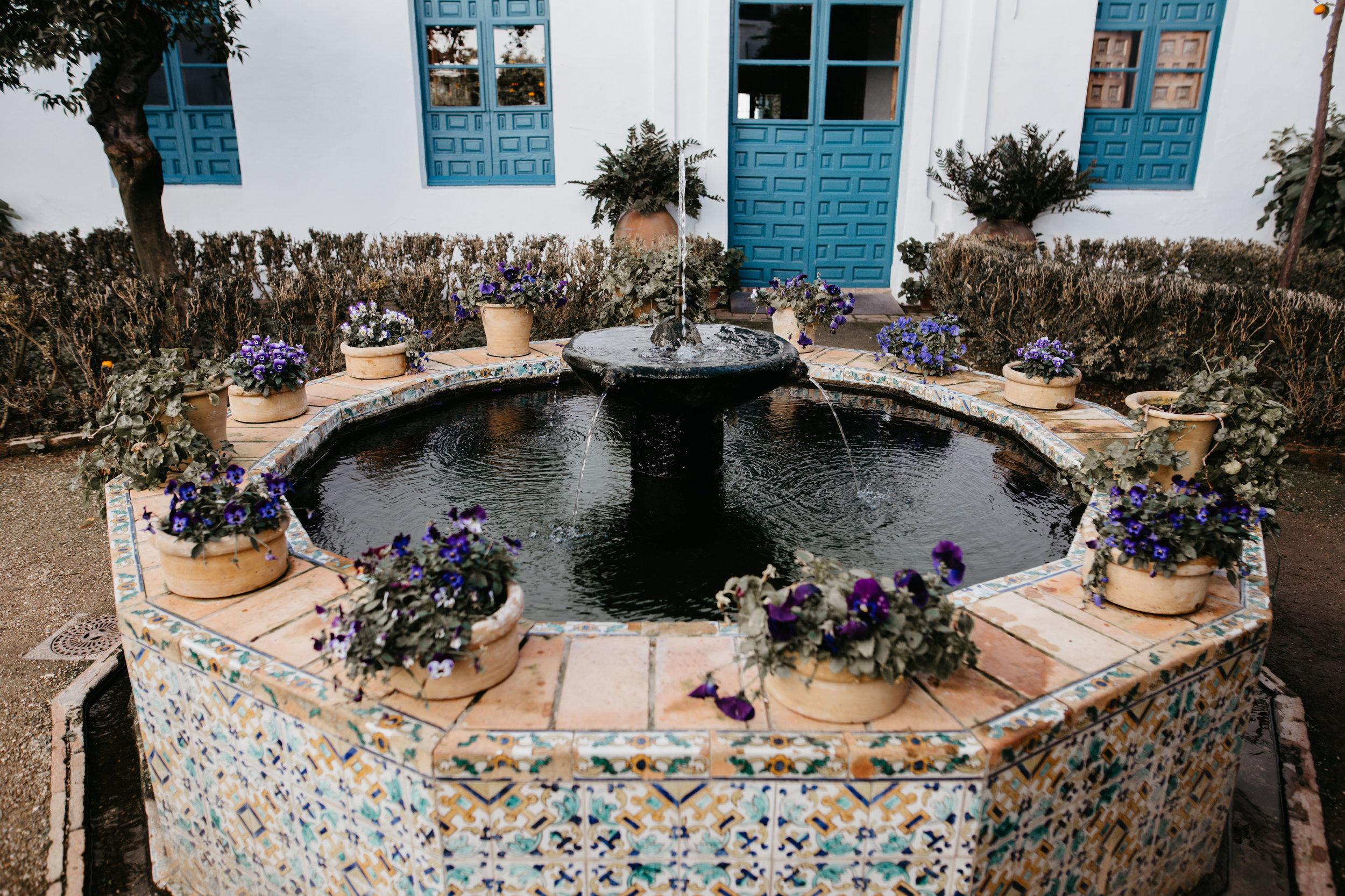 Spanish patio beautiful wedding venue