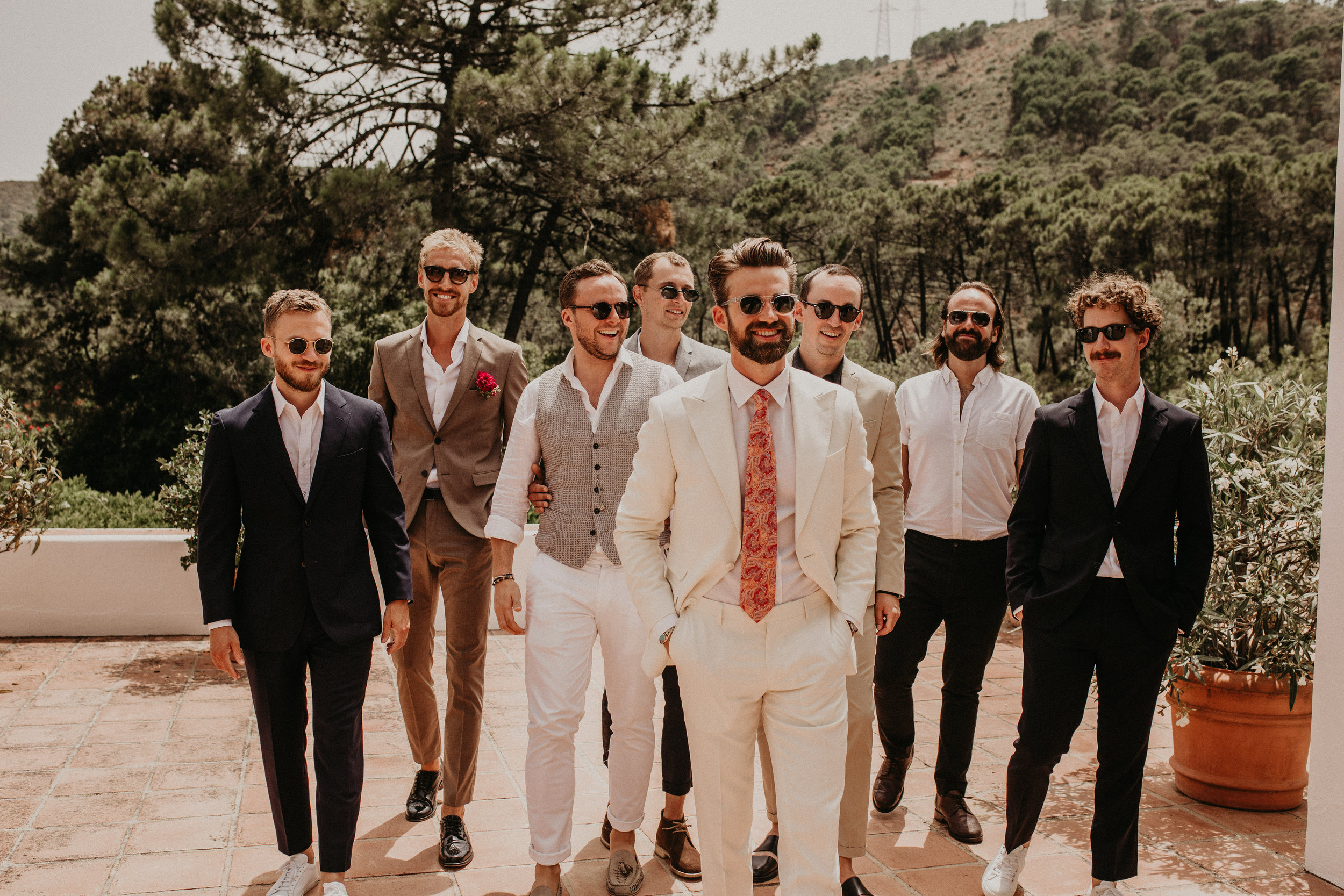 Groom men destination wedding