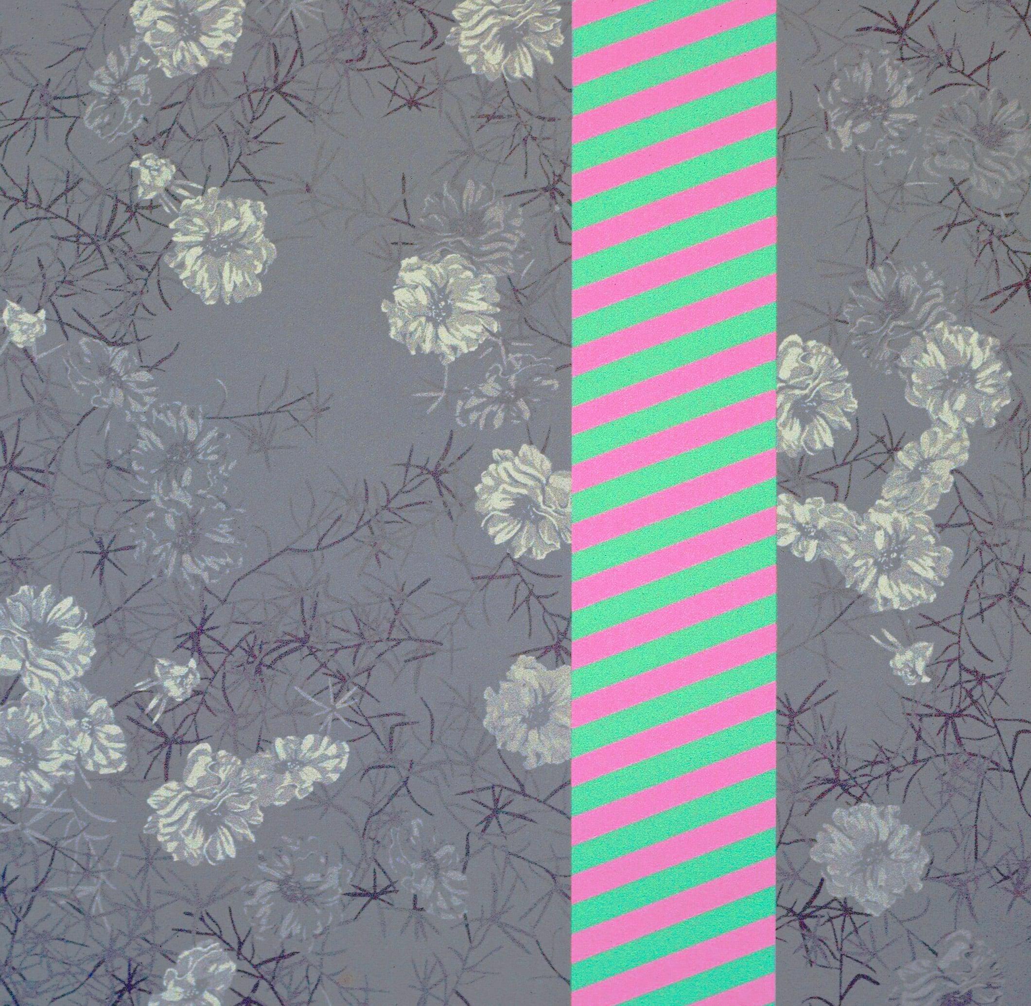 "Portulaca (1970)  acrylic on canvas  54"" H x 54"" W"