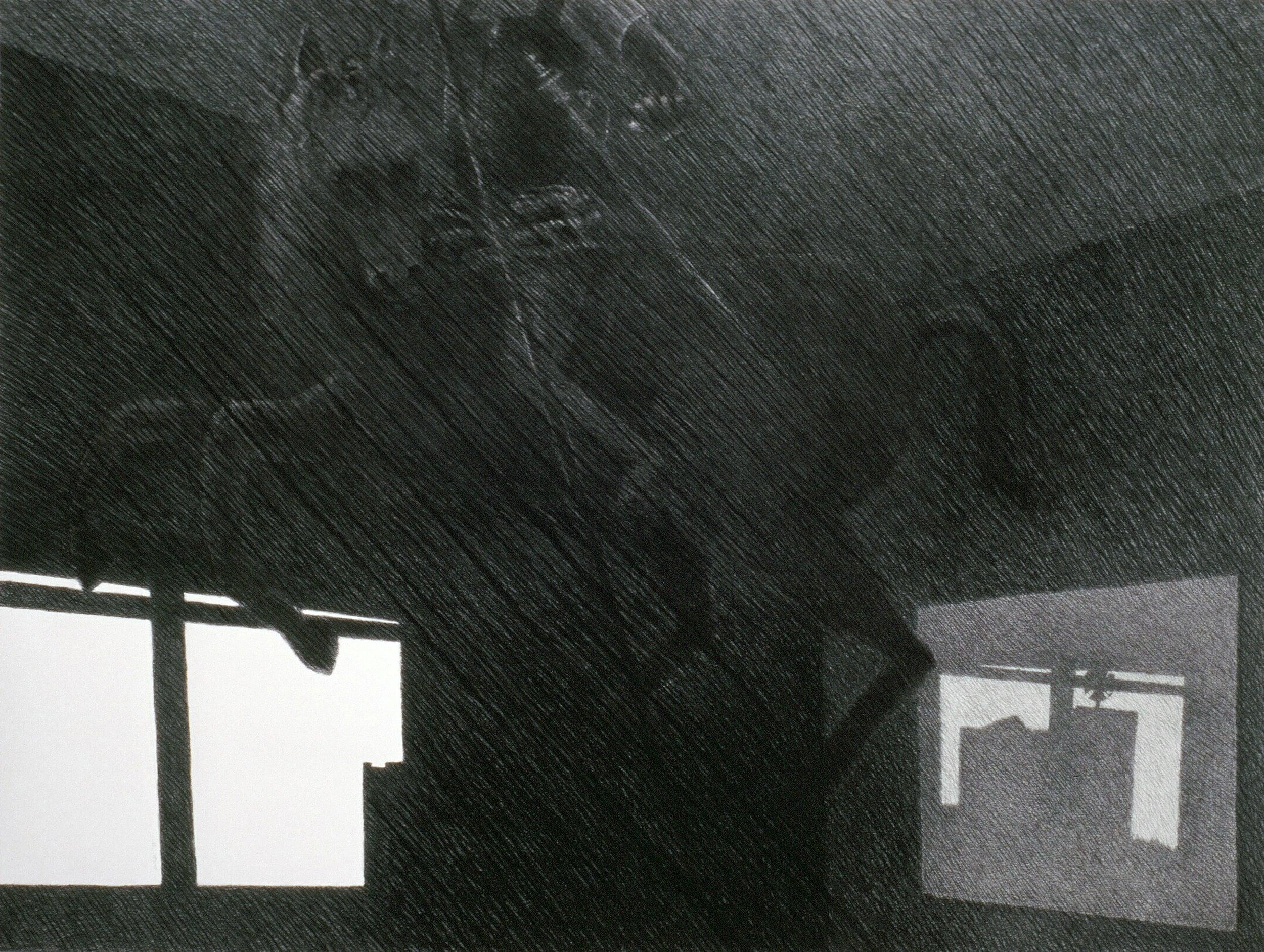 "Sleep:  Il Sogno  (1996)  charcoal  46"" H x 60"" W"