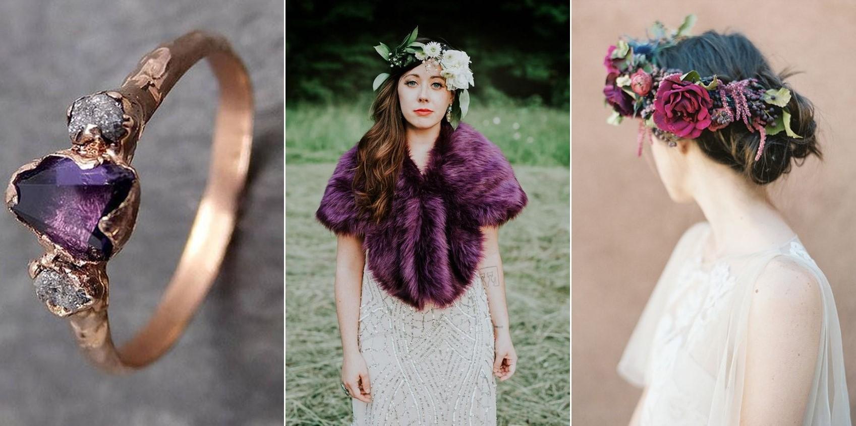 Fotos:  Coley & Co  y  Heather Hawkins  / Anillo:  By Angeline , Capa: Alex Bridal y Corona: Bows & Arrows Flowers .
