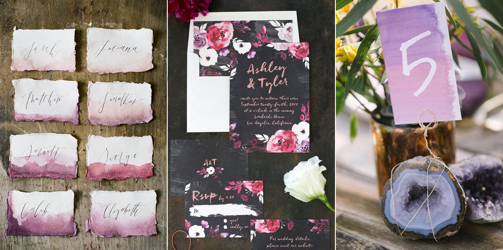 Papelería:  Wild Field Paper Co. ,  Elli  y  Whimsy Design Studio .